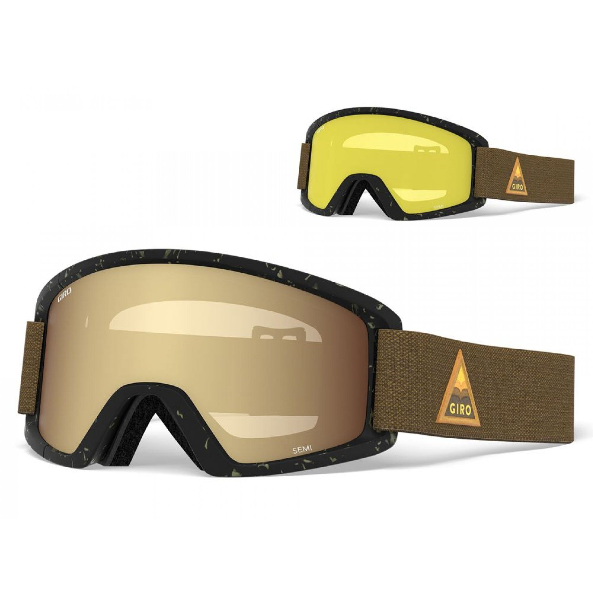 GOGLE GIRO SEMI RUST ARROW MTN|AMBER GOLD 1
