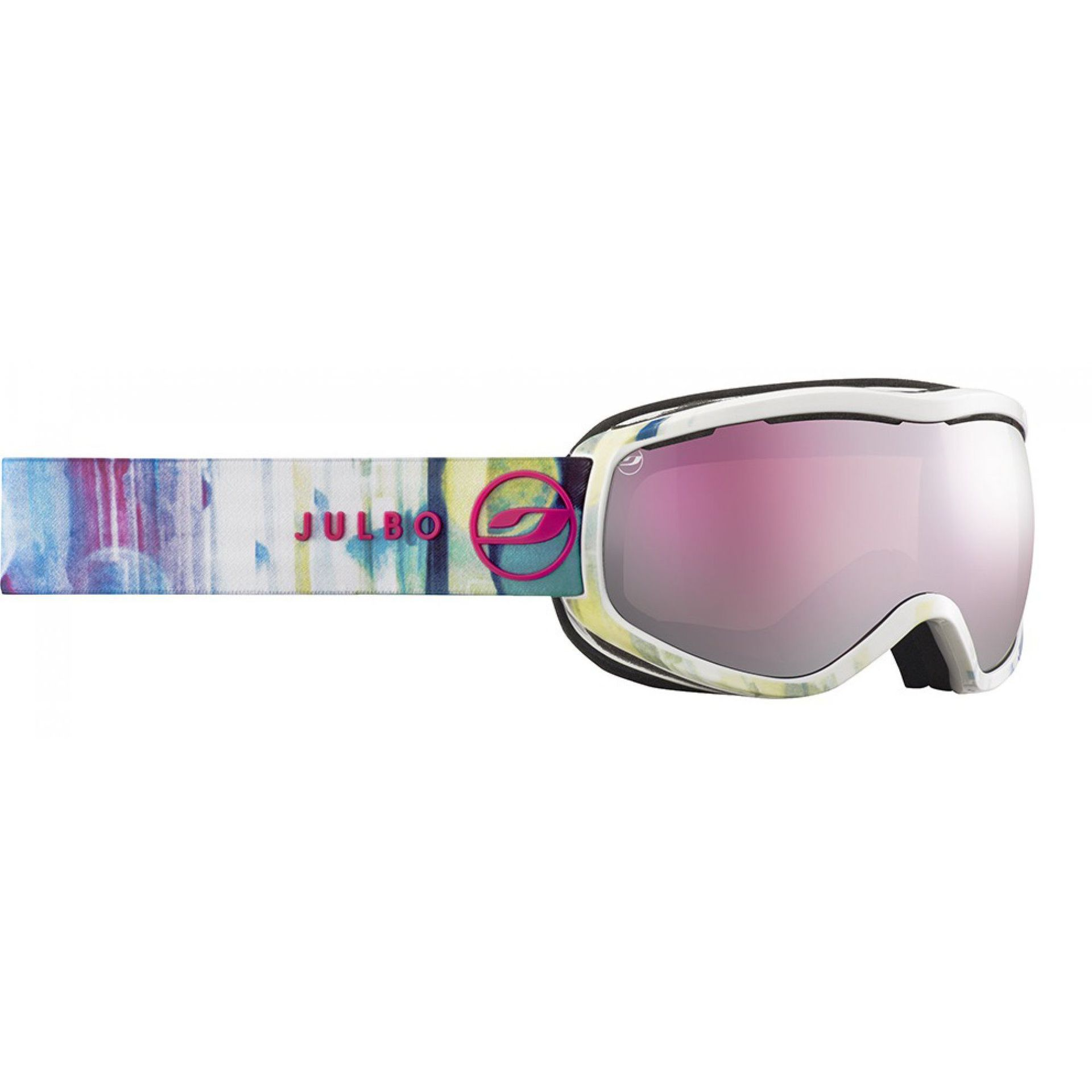 GOGLE JULBO EQUINOX WHITE|PINK SCREEN|SILVER FLASH SPECRON