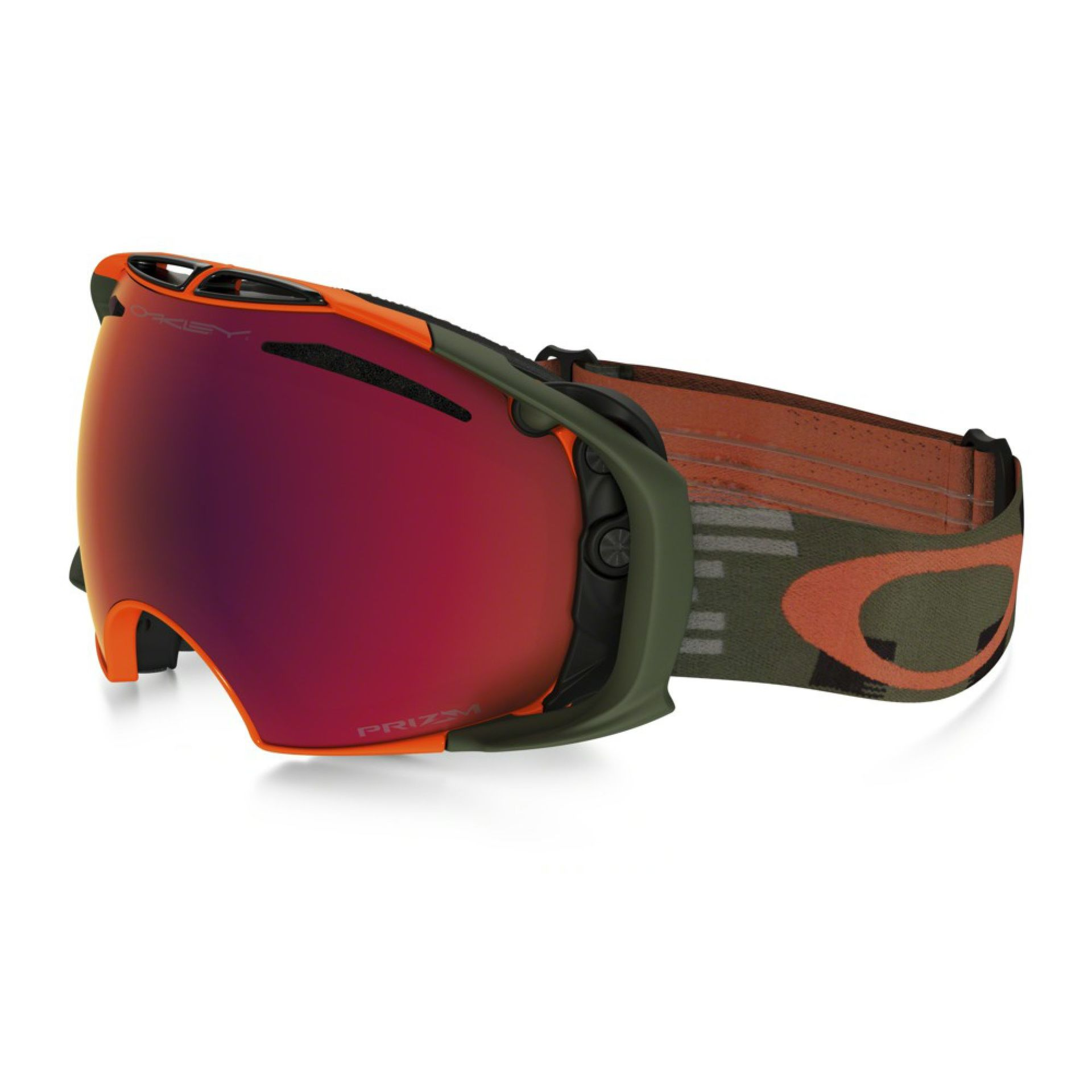 GOGLE OAKLEY AIRBRAKE DISRUPTIVE OLIVE ORANGE PRIZM TORCH IRIDIUM HI YELLOW IRIDIUM