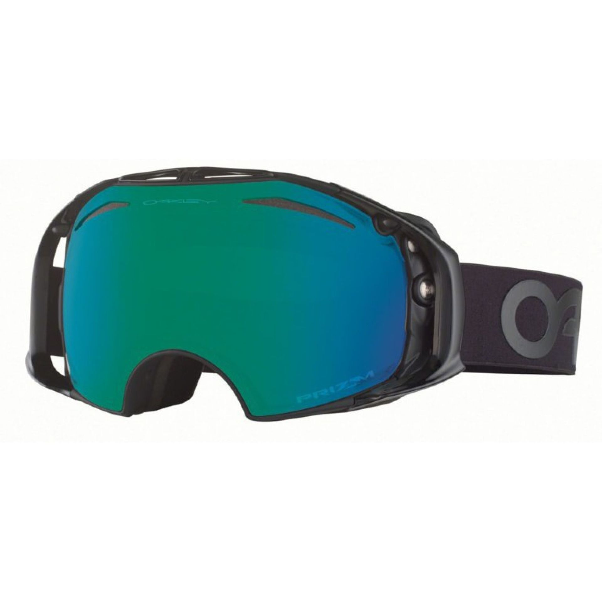 GOGLE OAKLEY AIRBRAKE FACTORY BLACKOUT PRIZM JADE IRIDIUM HI YELLOW IRIDIUM