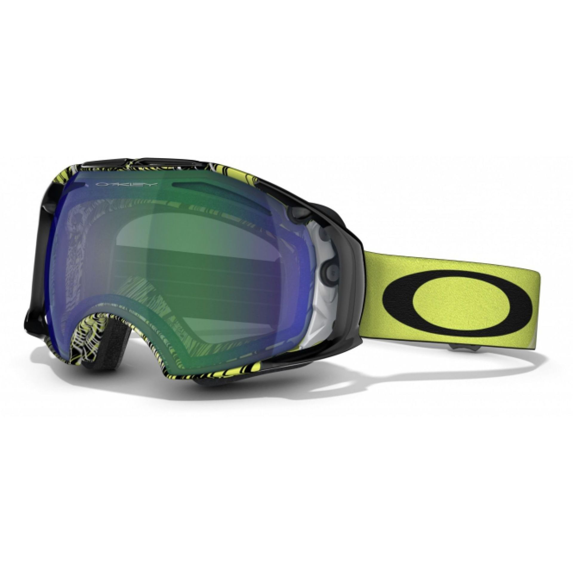 GOGLE OAKLEY AIRBRAKE TOPOGRAPY LIME JADE+PERSIMMON 1