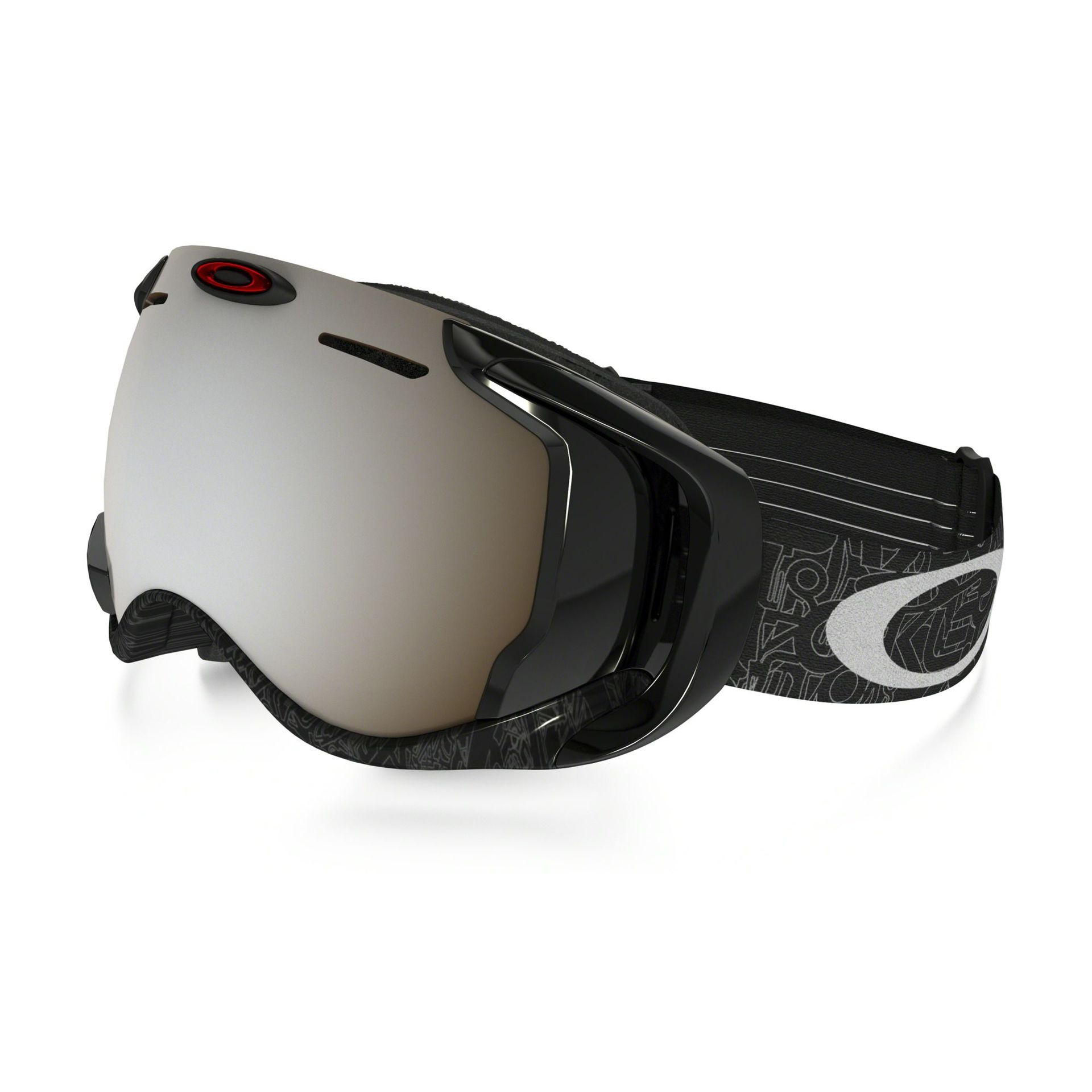 GOGLE OAKLEY AIRWAVE SILVER FACTORY TEXT BLACK IRIDIUM