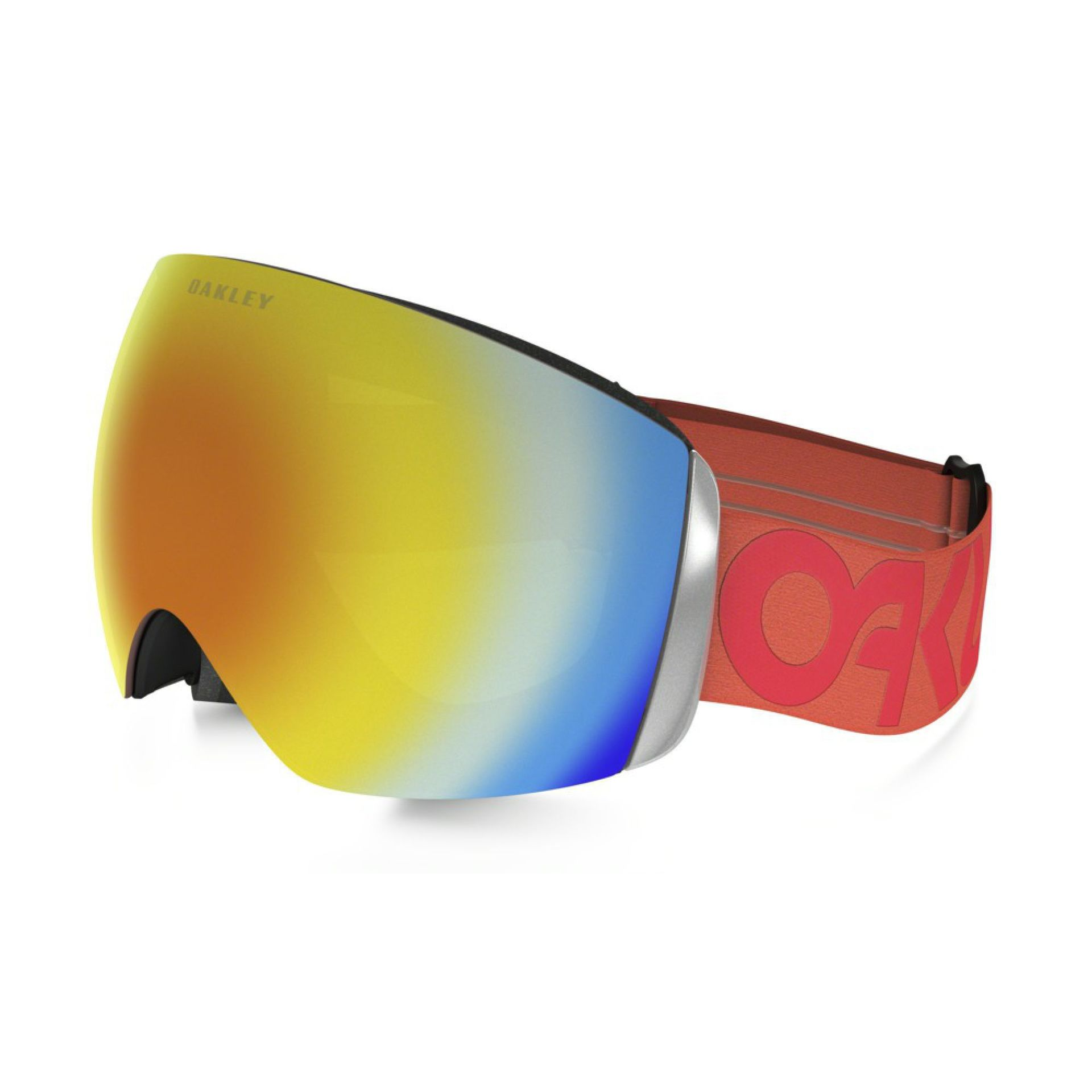 GOGLE OAKLEY FLIGHT DECK FACTORY PILOT FIRE RED FIRE IRIDIUM