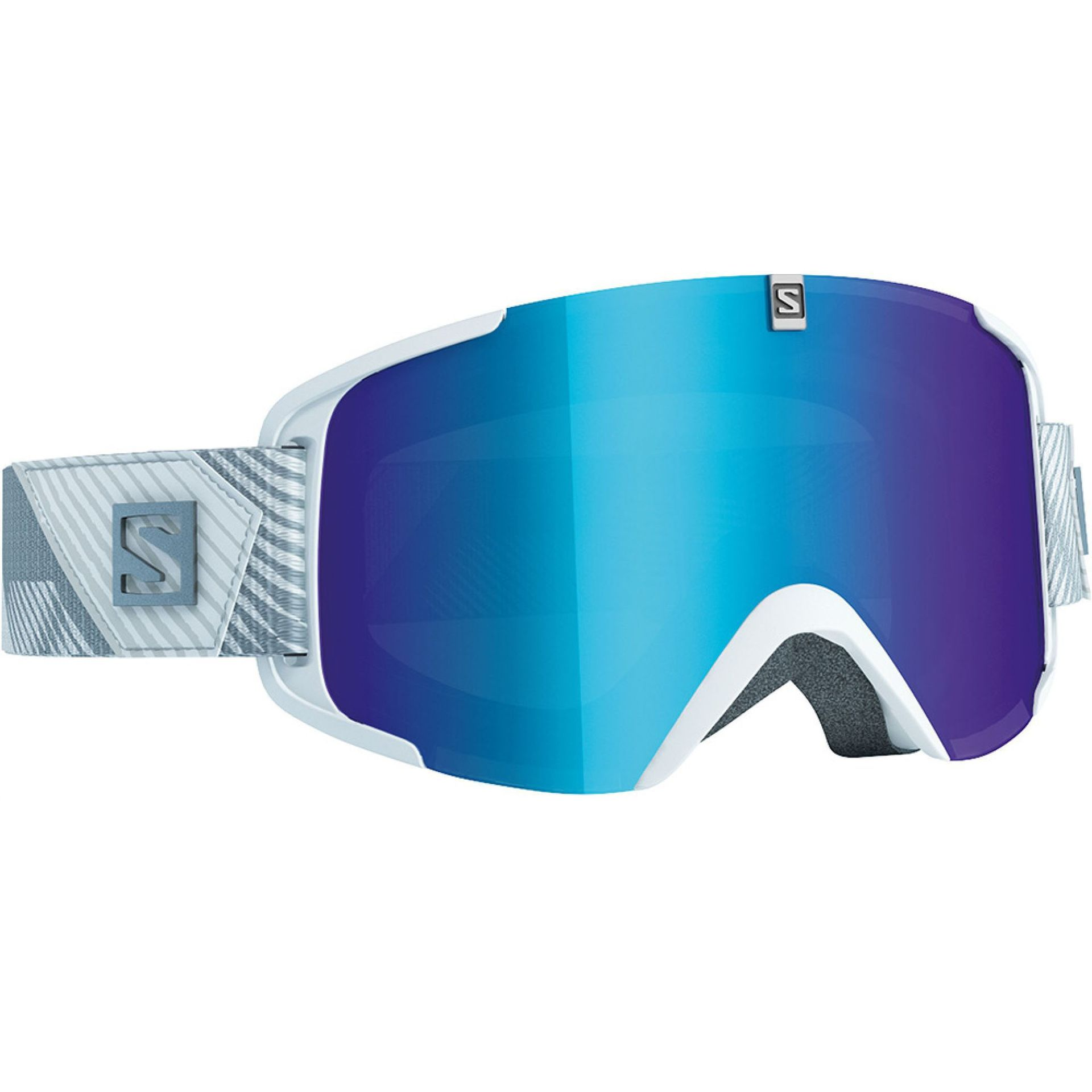 GOGLE SALOMON X VIEW EXTRA WHITE|SOLAR BLUE 1