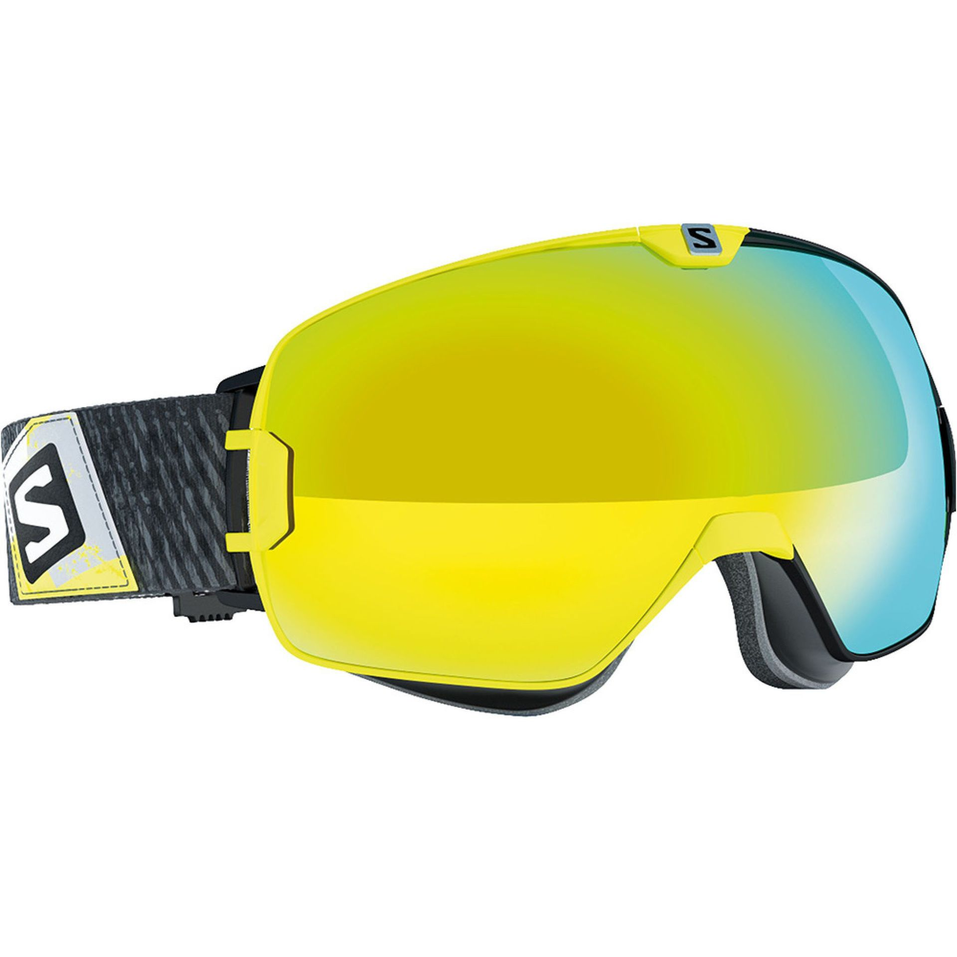 GOGLE SALOMON XMAX BLACK YELLOW|SOLAR YELLOW 1
