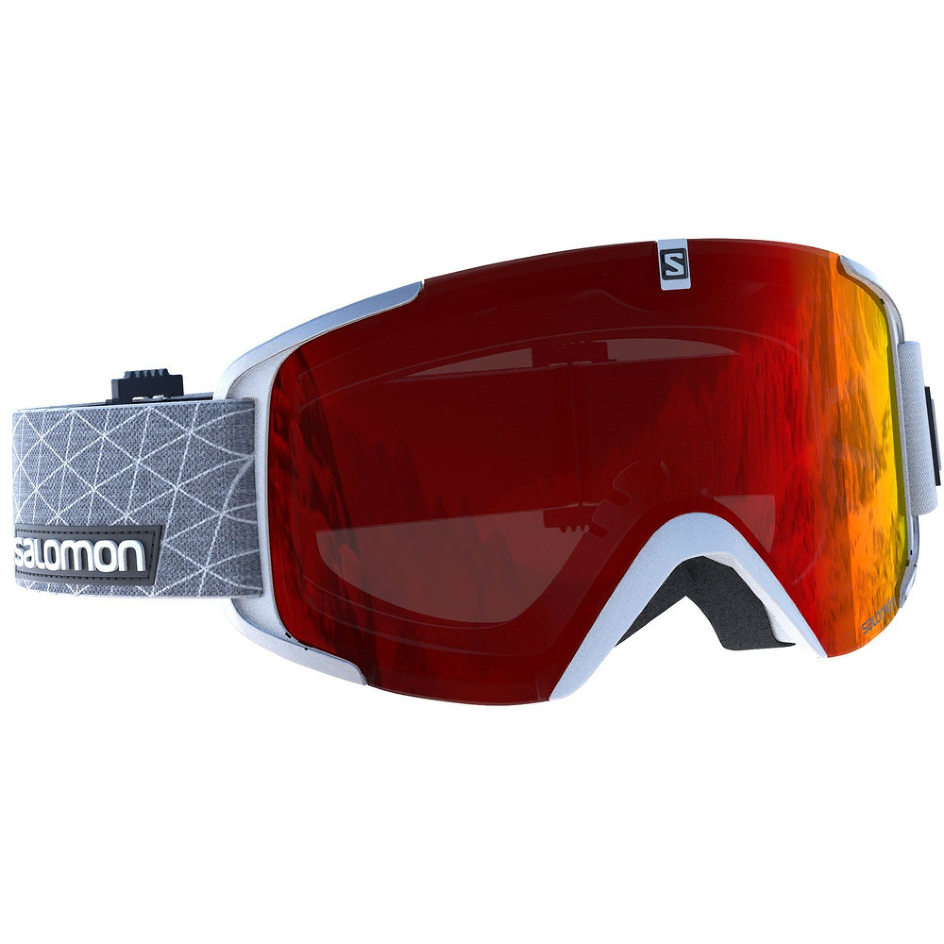 GOGLE SALOMON XVIEW 2018 WHITE|MID RED