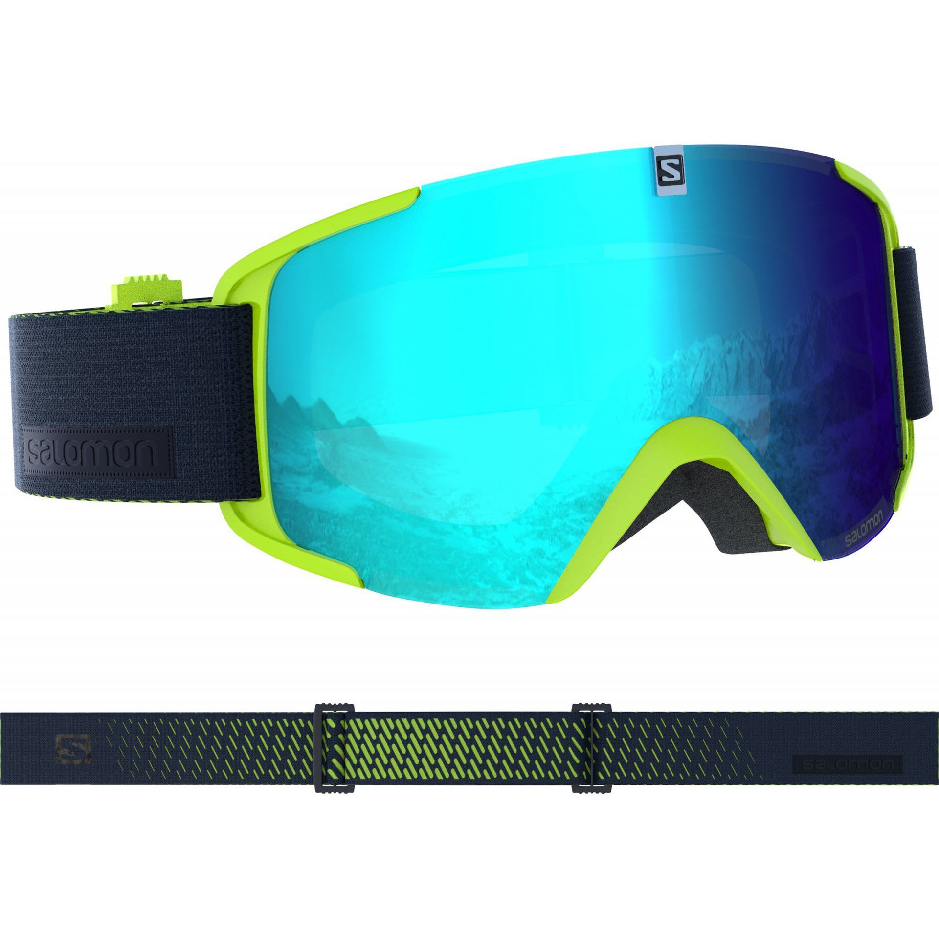 GOGLE SALOMON XVIEW ACID LIME 399033