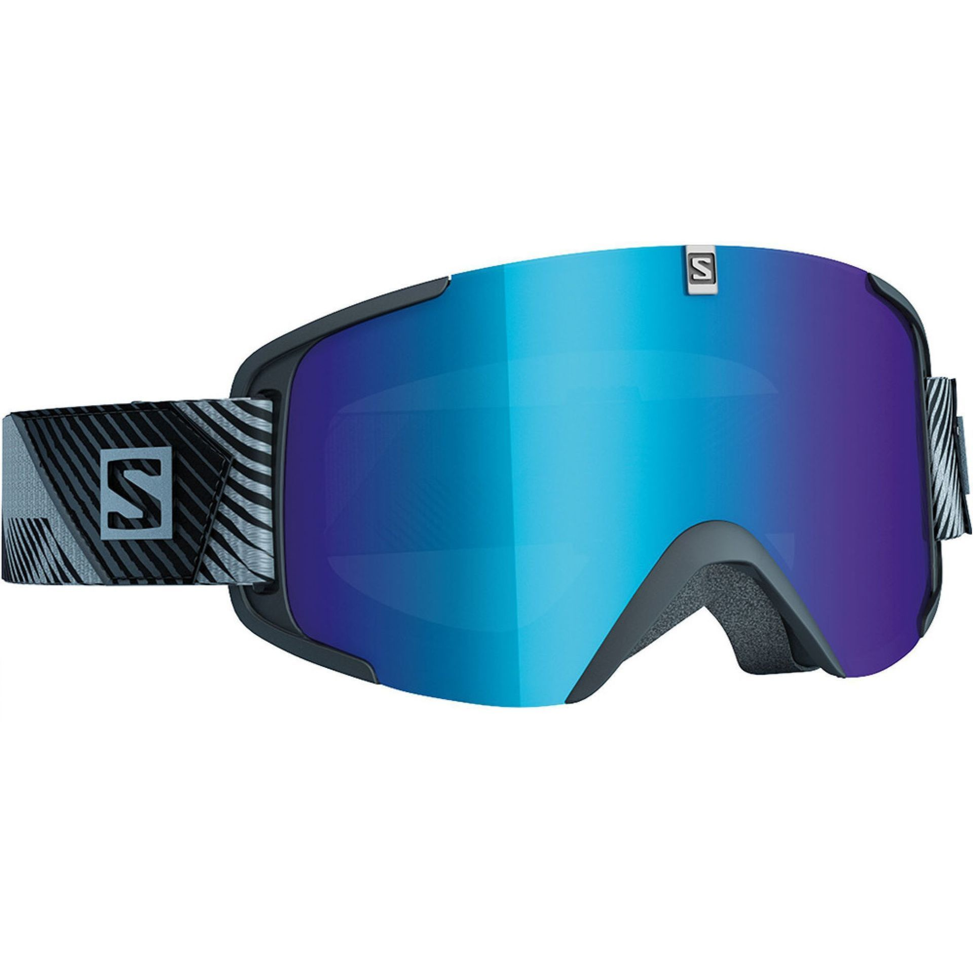 GOGLE SALOMON XVIEW EXTRA BLACK|SOLAR BLUE 2