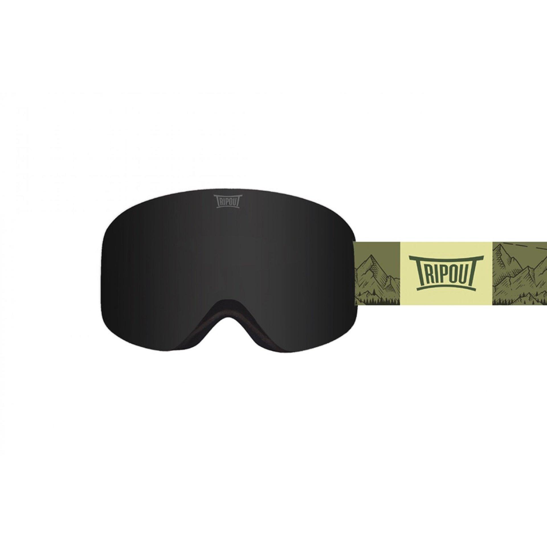 GOGLE TRIPOUT RACER MOUNT GREEN|BLACK POLARIZED+CLEAR 1