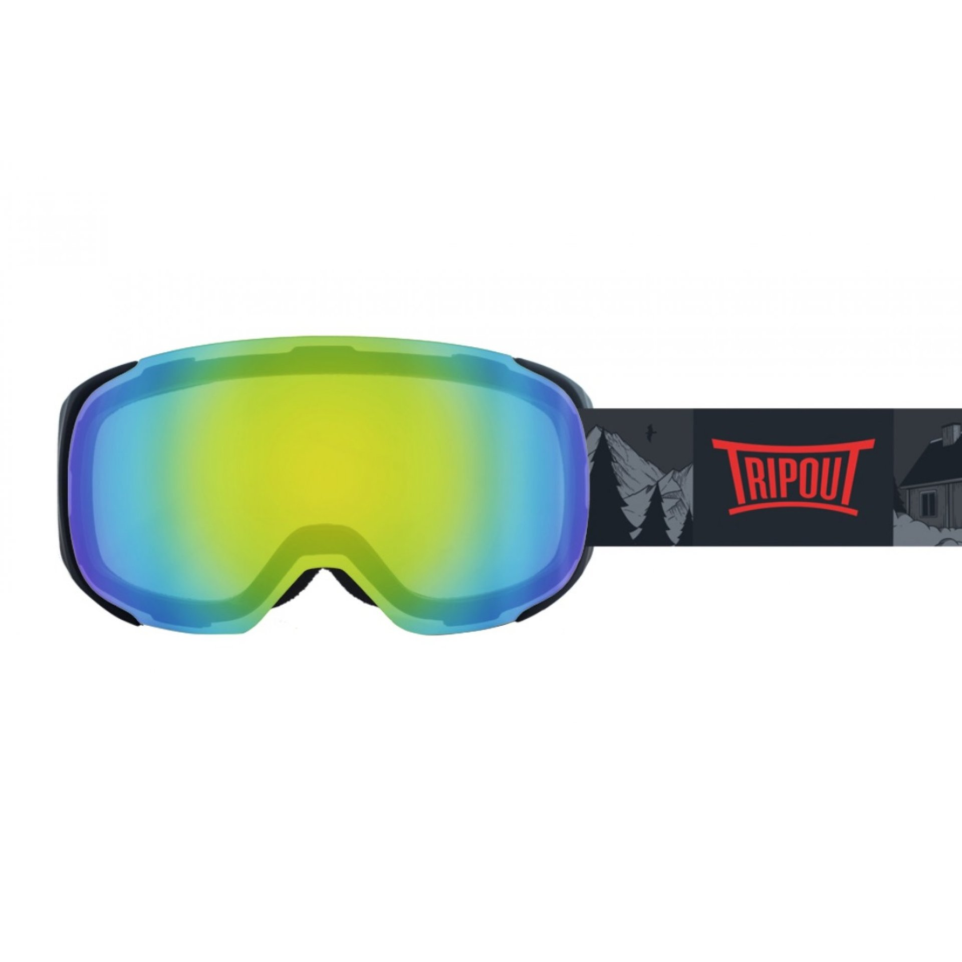GOGLE TRIPOUT STEEZ GRIZZLY|BLACK|MINT MIRRORED+FOGGY 1