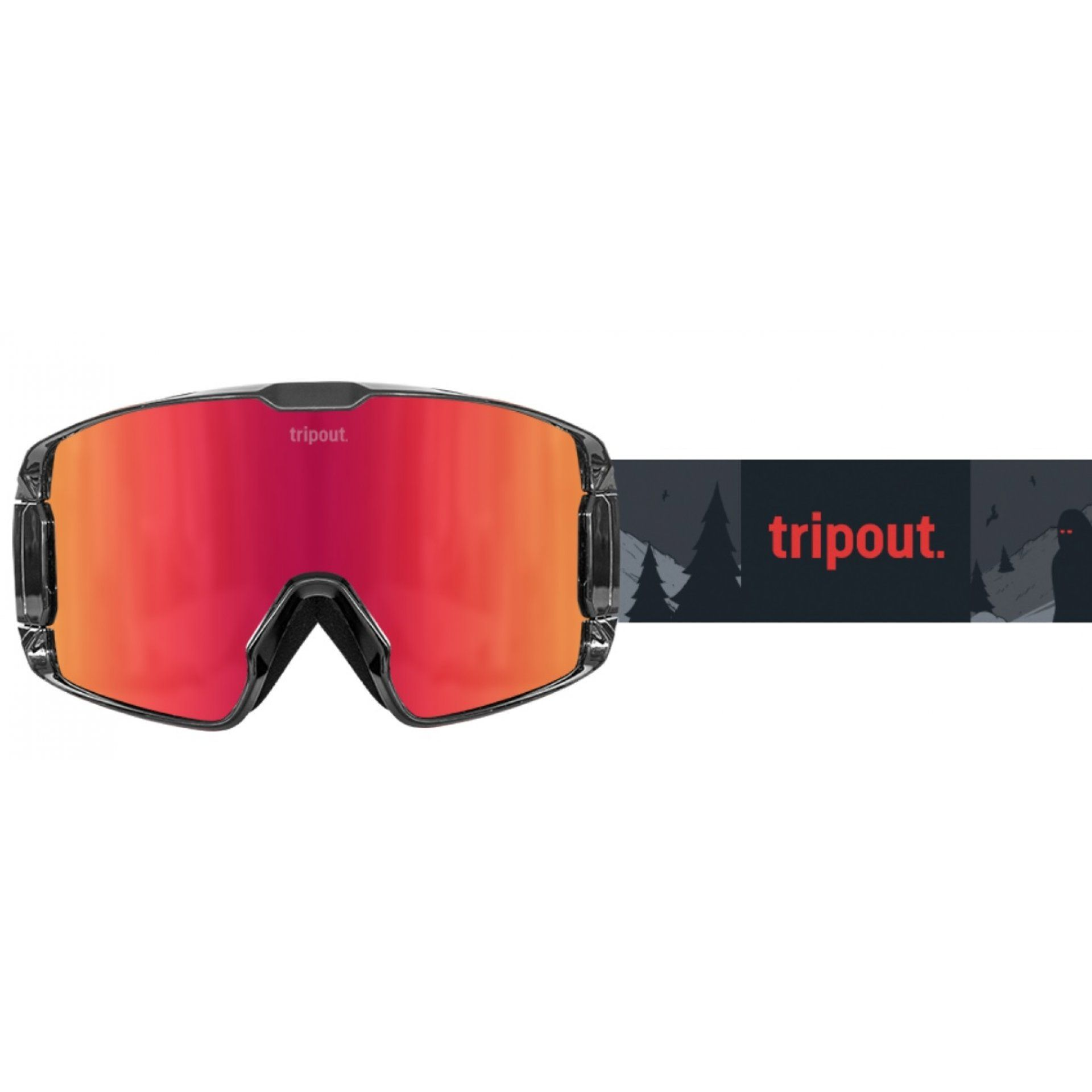 GOGLE TRIPOUT TRX GRIZZLY|ORANGE FIRE+FOGGY+CLEAR 1