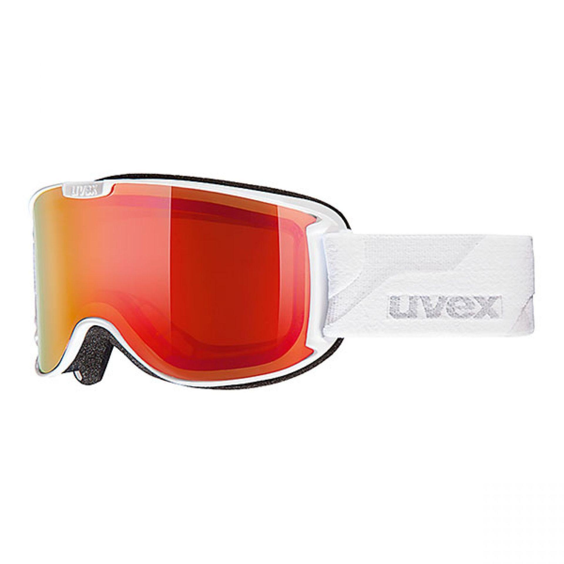 GOGLE UVEX # SKYPER WHITE LITEMIRROR RED POLAVISION ROSE S3