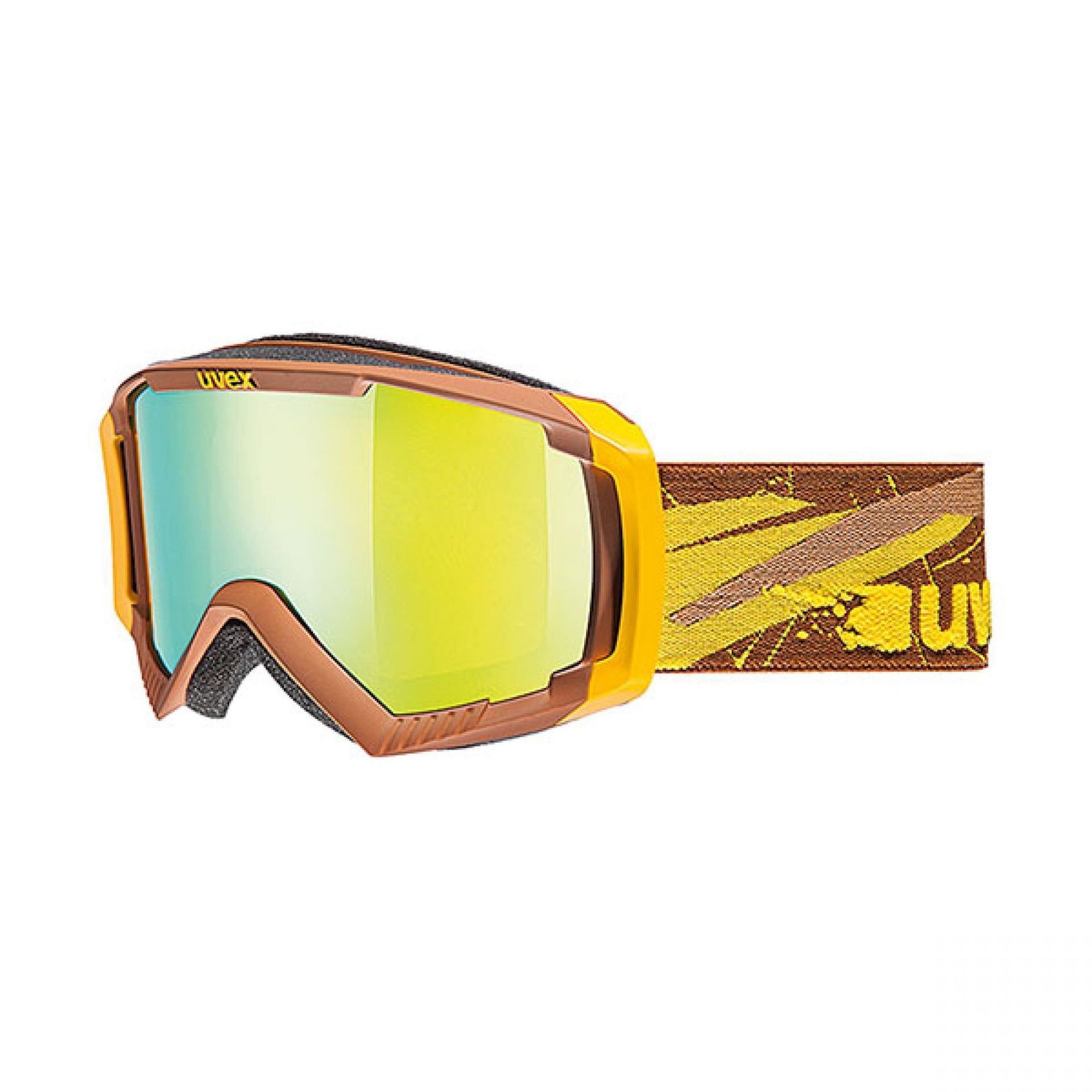 GOGLE UVEX APACHE II LTM BROWN YELLOW MAT LITEMIRROW YELLOW LASERGOLD LITE S4