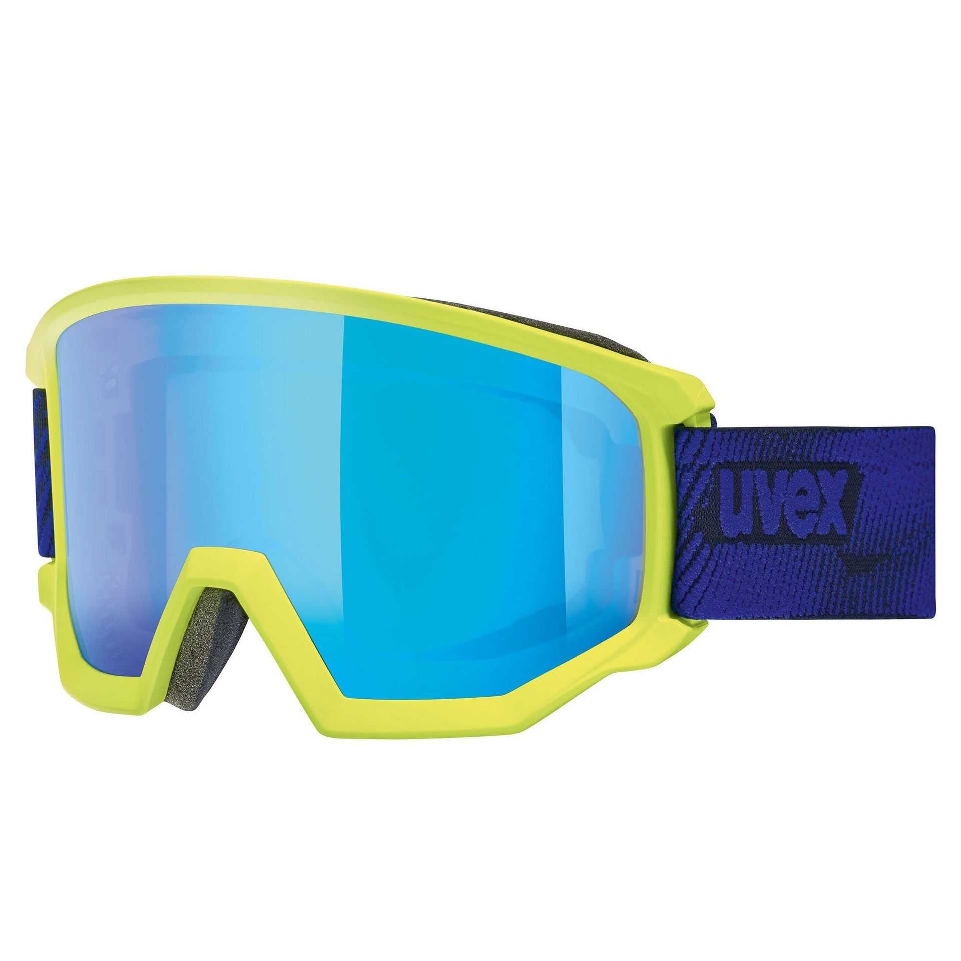 GOGLE UVEX ATHLETIC CV LIME INDYGO MAT|MIRROR BLUE COLORVISION GREEN 55|0|527|7030
