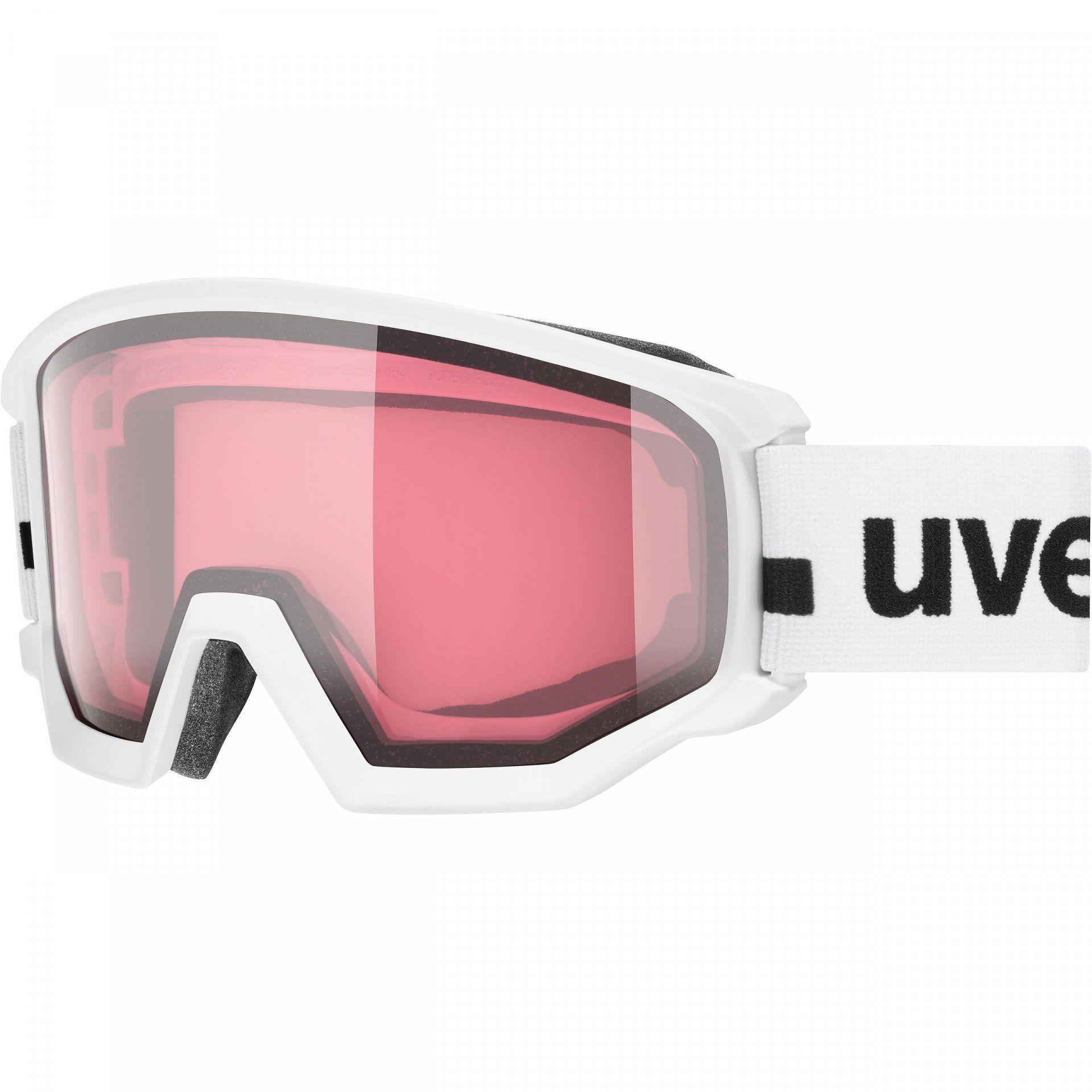 GOGLE UVEX ATHLETIC V  WHITE|VARIOMATIC PINK CLEAR 55|0|525|1030