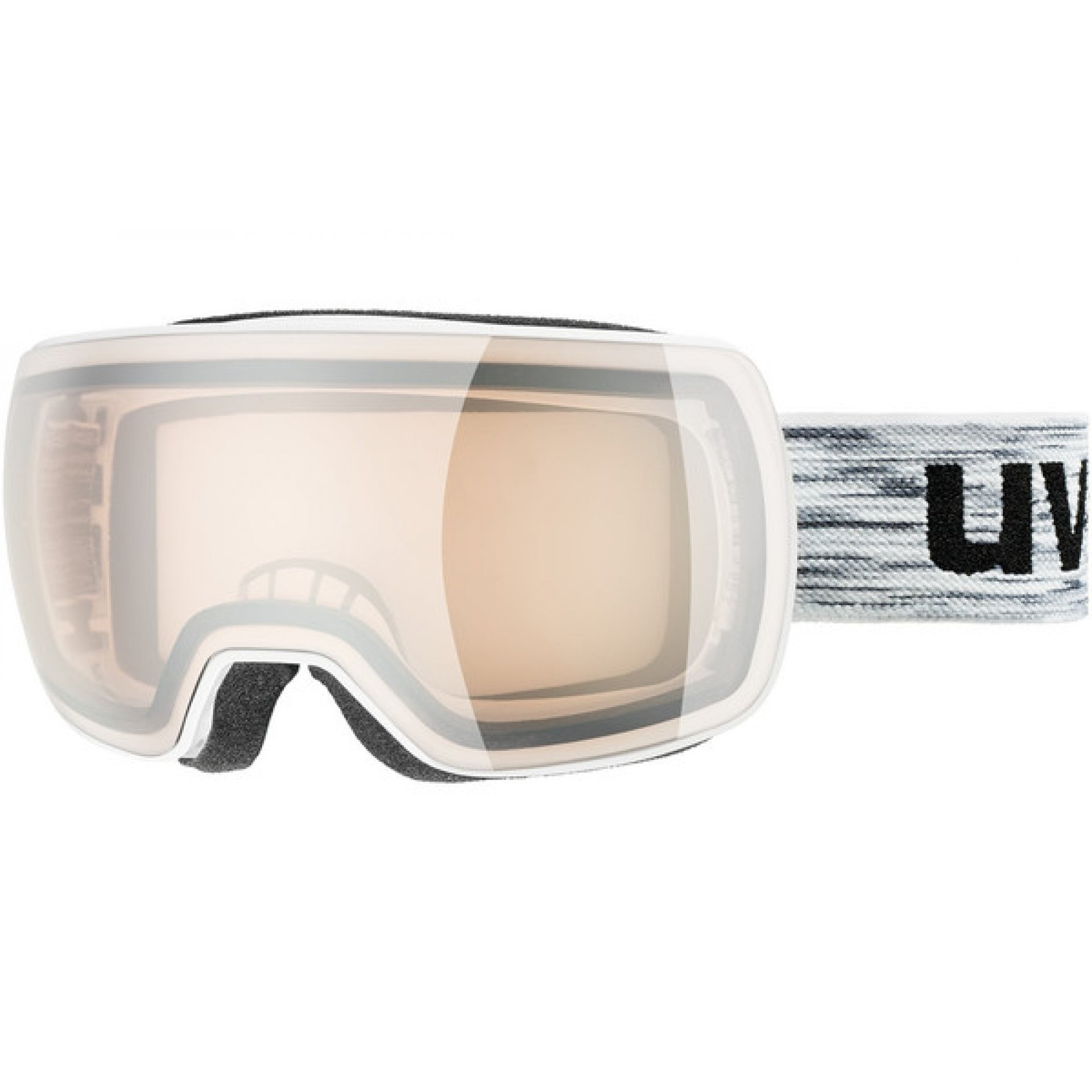 GOGLE UVEX COMPACT VLM WHITE|LITEMIRROR SILVER VARIOMATIC S1-3