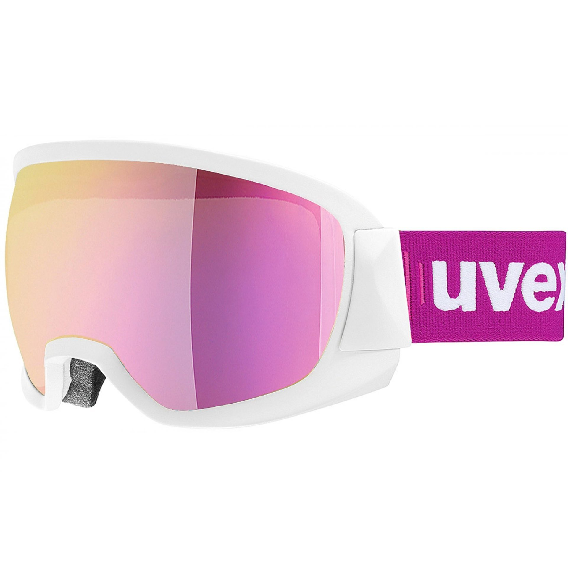 GOGLE UVEX CONTEST WHITE MAT|MIRROR PINK CLEAR S2