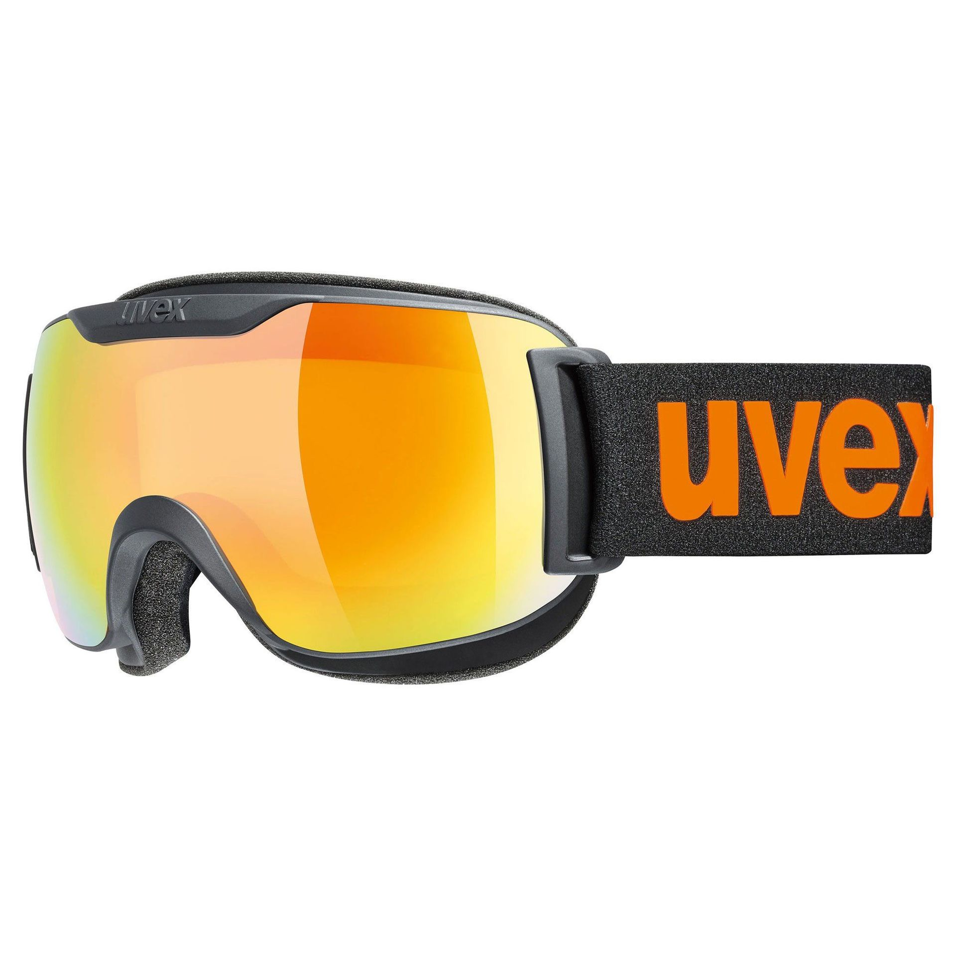 GOGLE UVEX DOWNHILL 2000 CV BLACK MAT ORANGE|MIRROR ORANGE COLORVISION YELLOW 55|0|117|2530