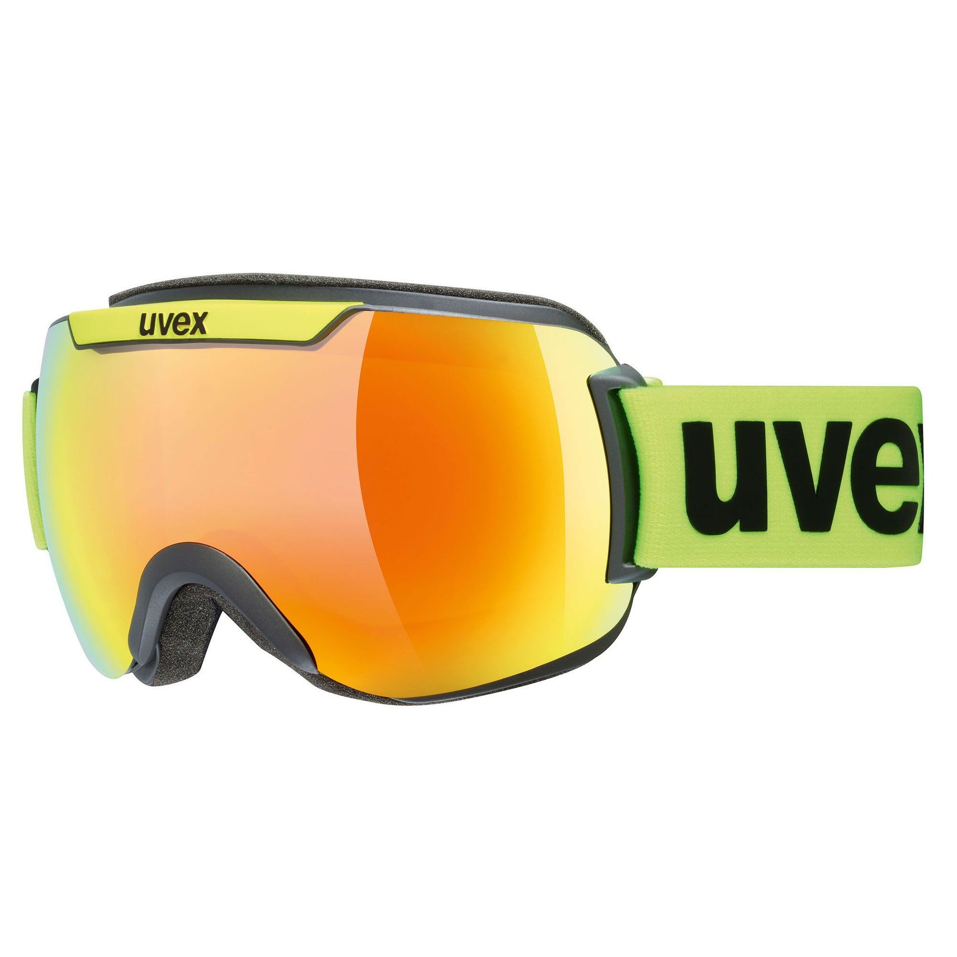 GOGLE UVEX DOWNHILL 2000 CV YELLOW LIME MAT|MIRROR ORANGE COLORVISION GREEN 55|0|117|3030