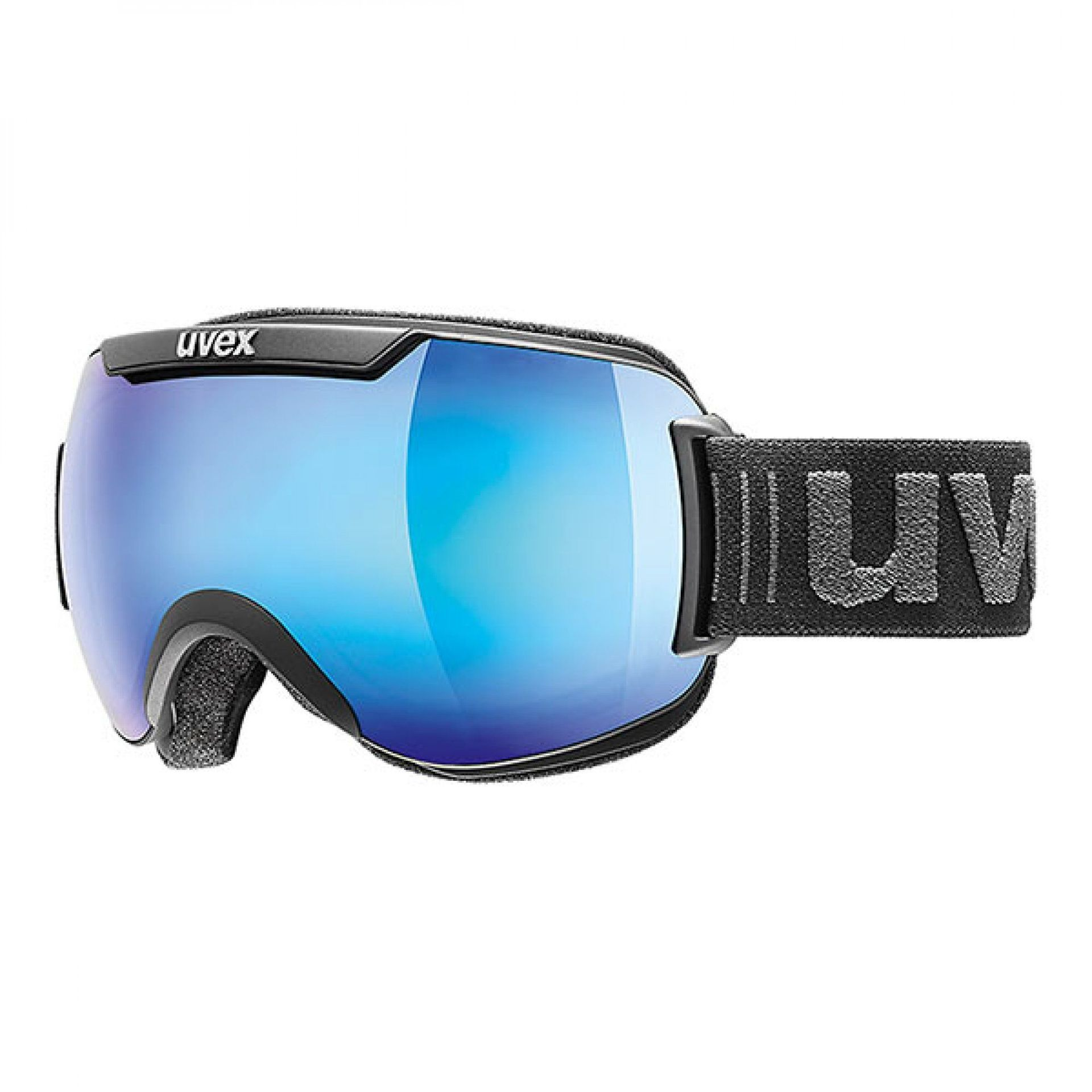 GOGLE UVEX DOWNHILL 2000 FM BLACK MAT|MIRROR BLUE 55|0|115|2426