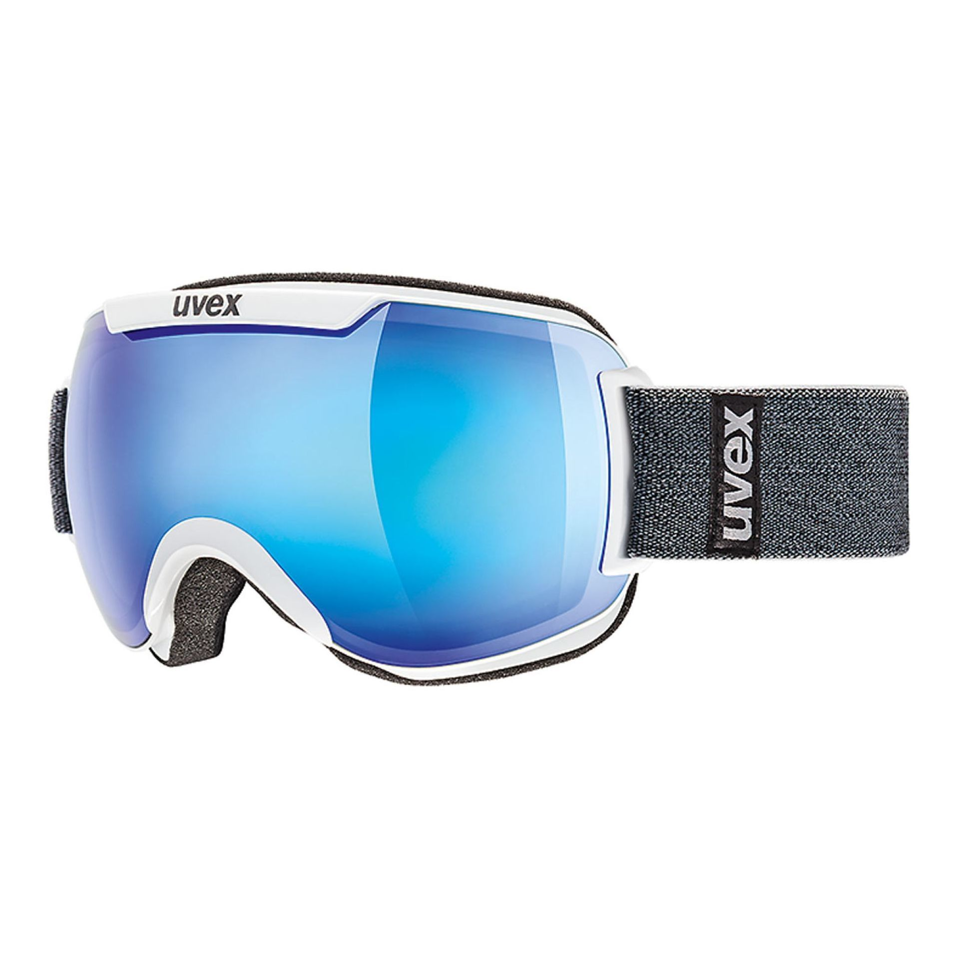 GOGLE UVEX  DOWNHILL 2000 FM WHITE|MIRROR BLUE CLEAR