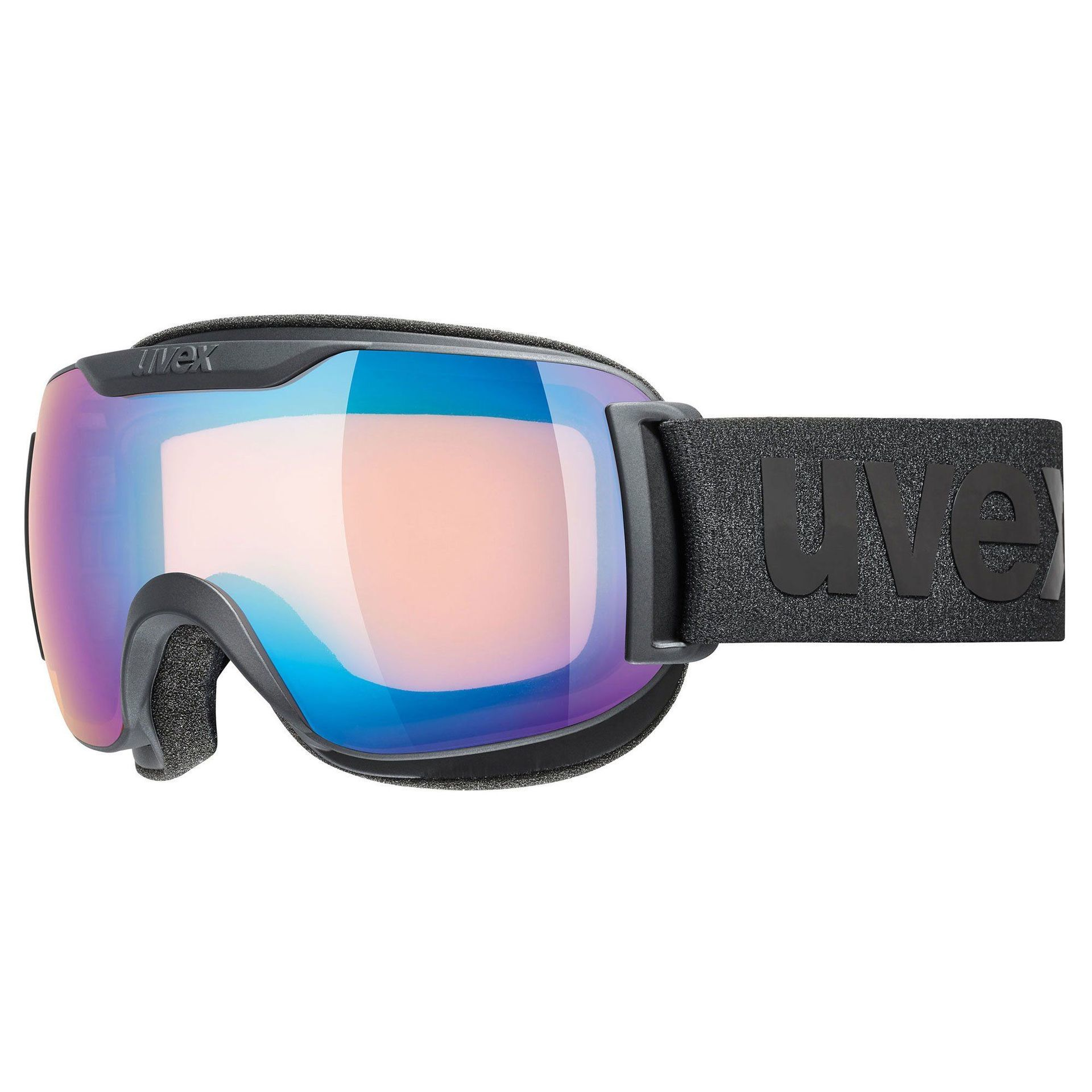 GOGLE UVEX DOWNHILL 2000 S CV BLACK MAT|MIRROR BLUE COLORVISION YELLOW 55|0|447|2130