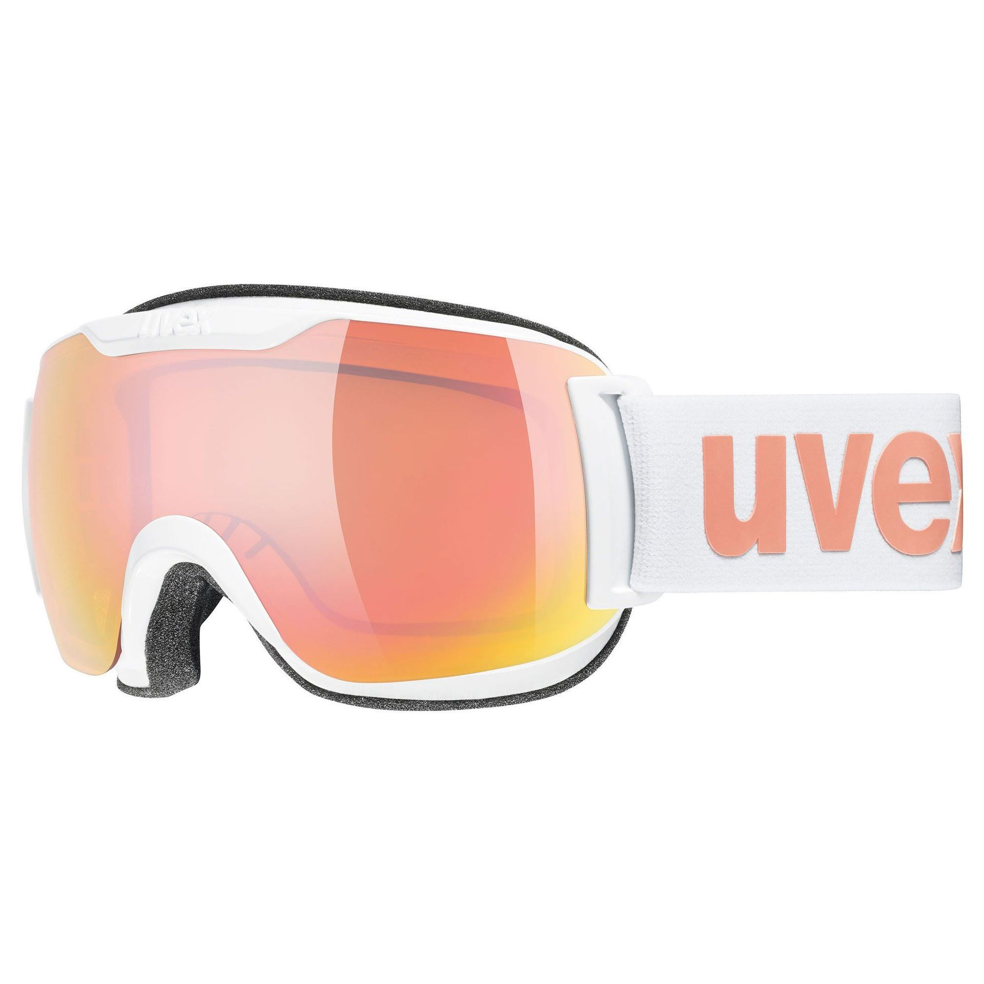 GOGLE UVEX DOWNHILL 2000 S CV WHITE|MIRROR ROSE COLORVISION ORANGE 55|0|447|1030