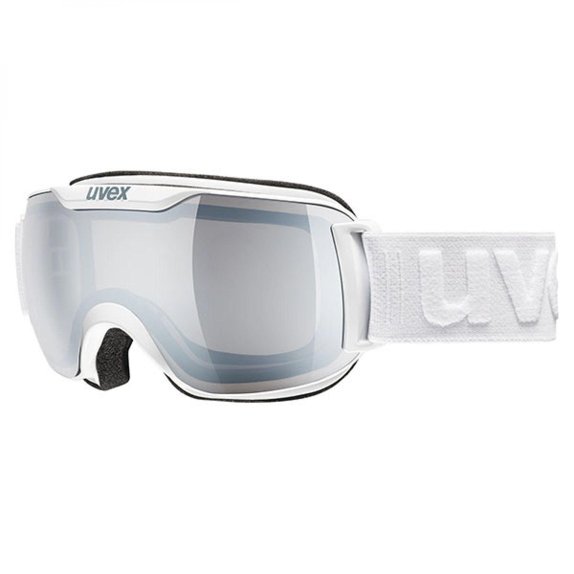 GOGLE UVEX DOWNHILL 2000 S LM WHITE LITEMIRROR SILVER 55 0 438 1026