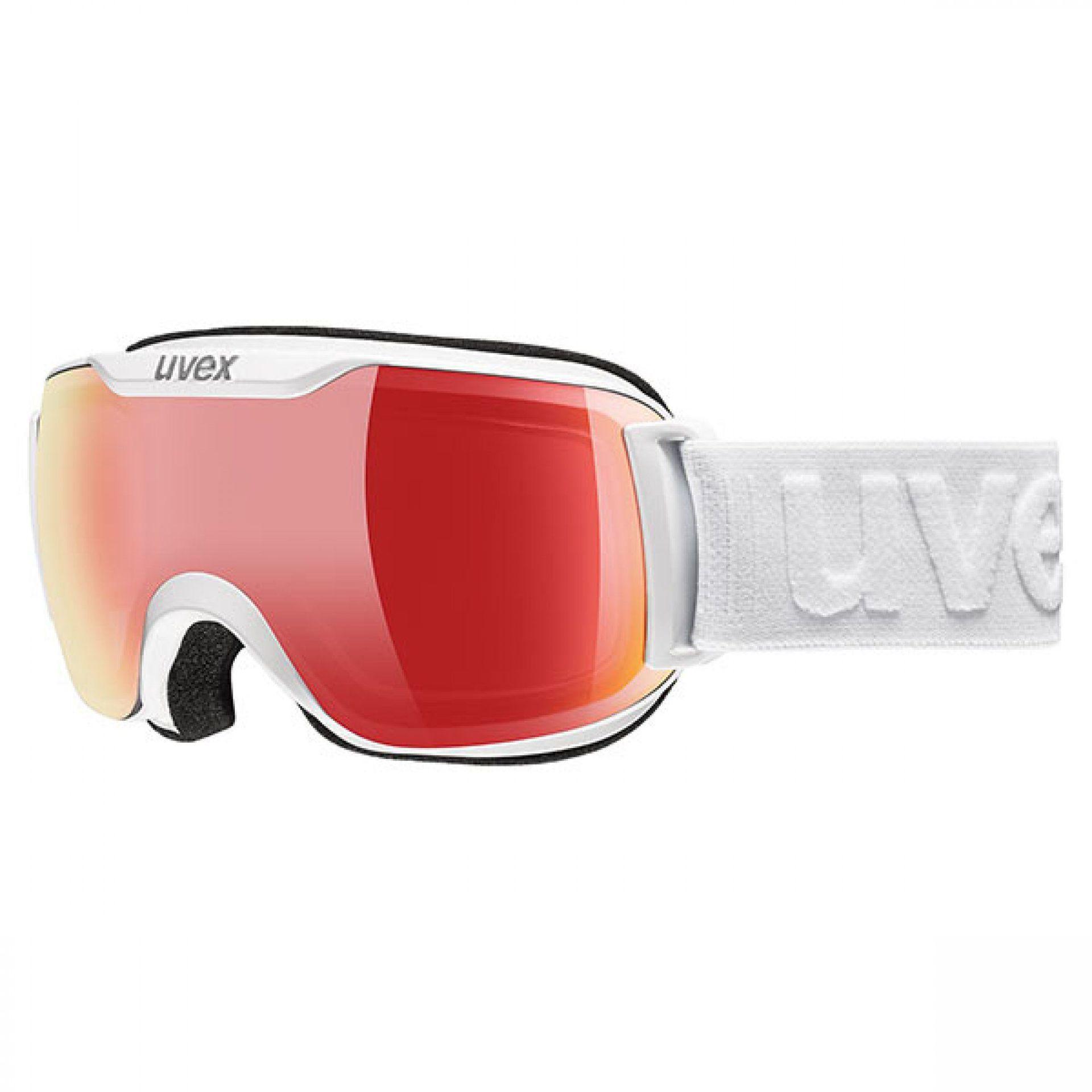 GOGLE UVEX DOWNHILL 2000 S VFM WHITE VARIOMATIC RED MIRROR