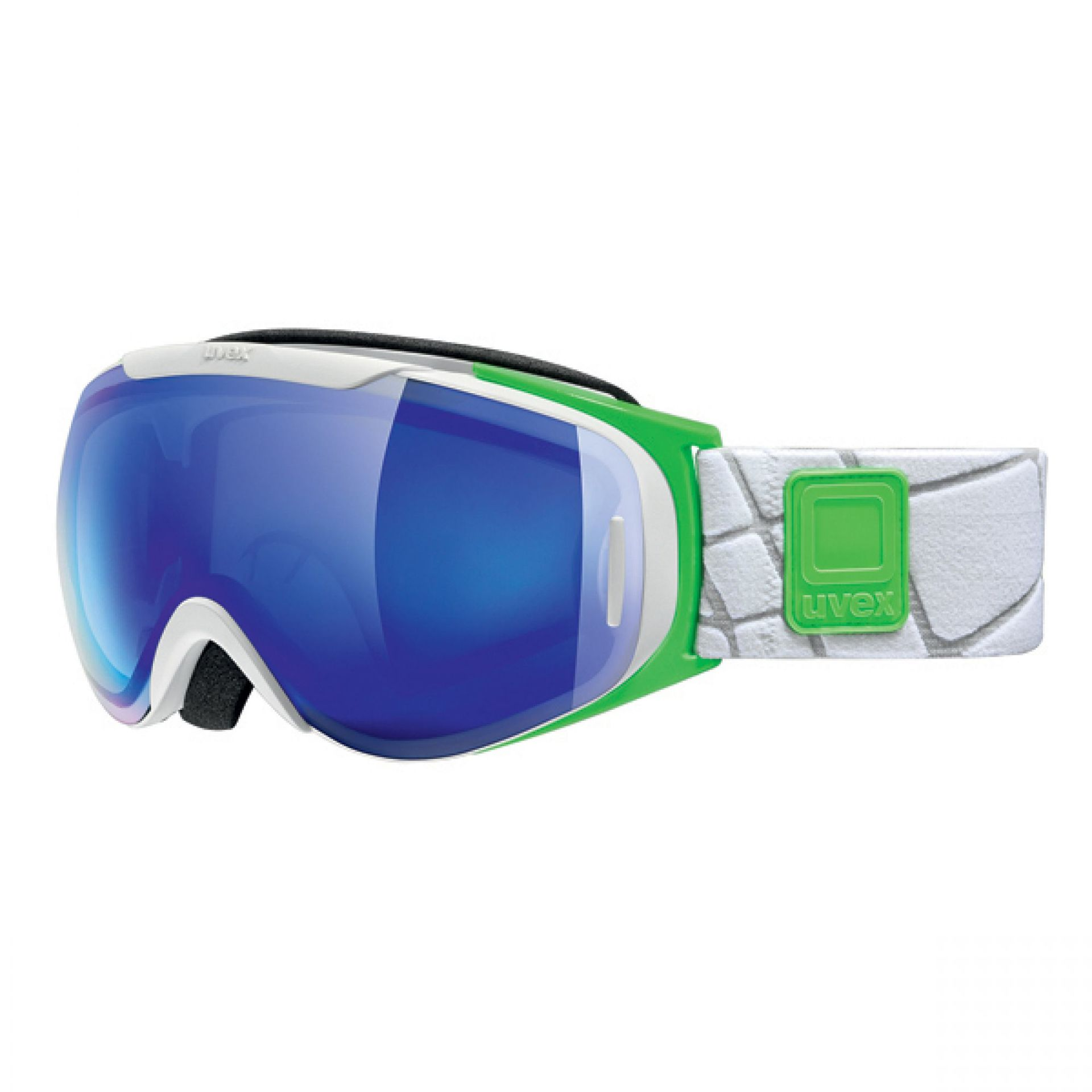 GOGLE UVEX G.GL 9 RECON WHITE GREEN LITEMIRROR BLUE CLEAR S2