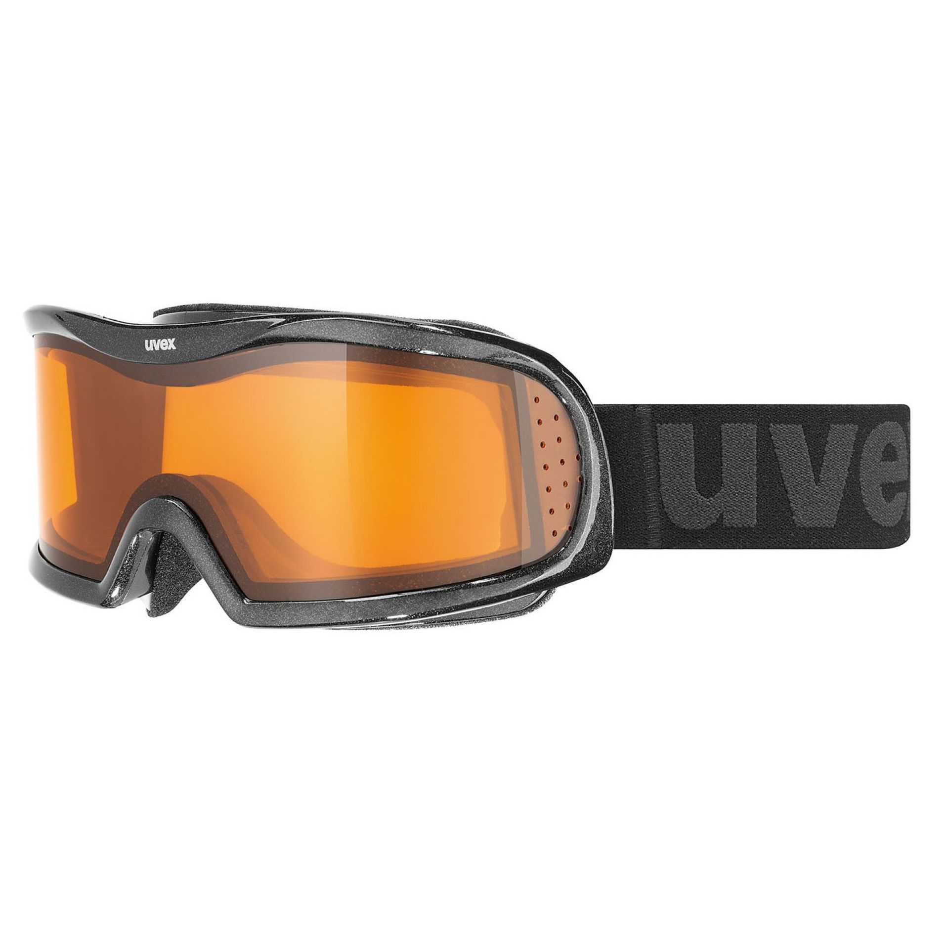 GOGLE UVEX VISION OPTIC L  BLACK MET|LASERGOLD LITE|CLEAR S1