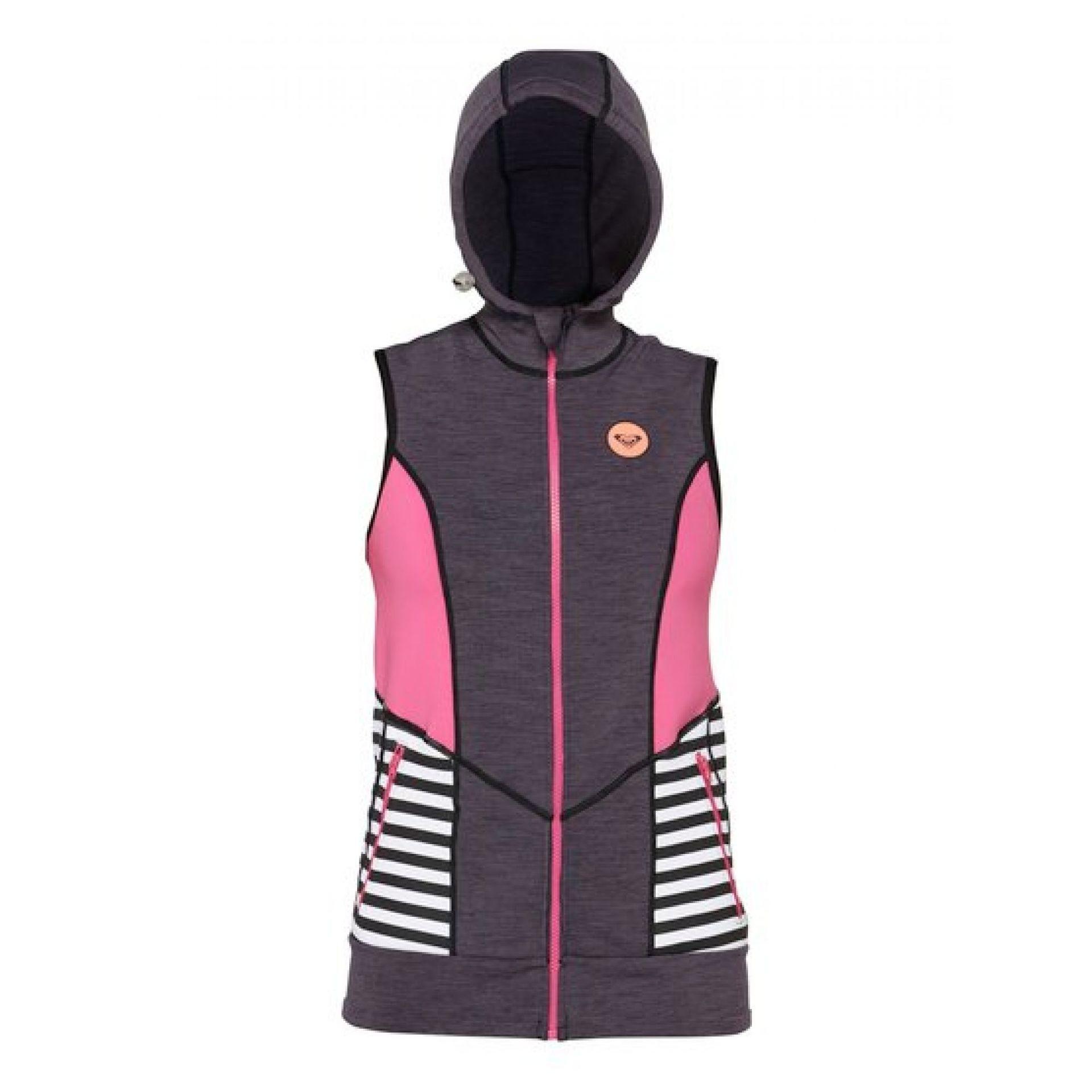 Kamizelka neoprenowa Roxy Close Out Vest Of szaro różowo czarno biała