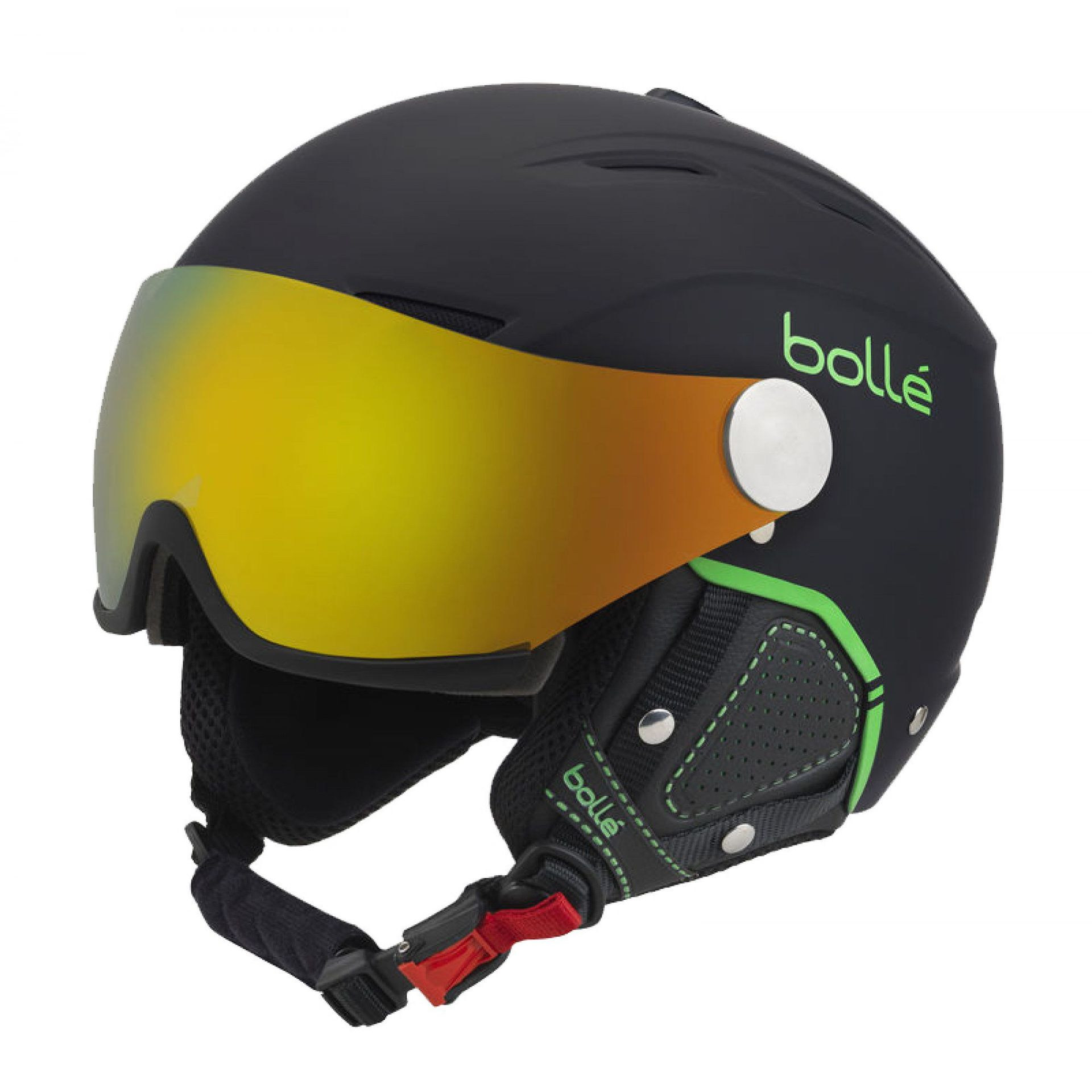 KASK BOLLE BACKLINE VISOR PREMIUM SOFT BLACK|GREEN FIRE GREEN|LEMON VISOR