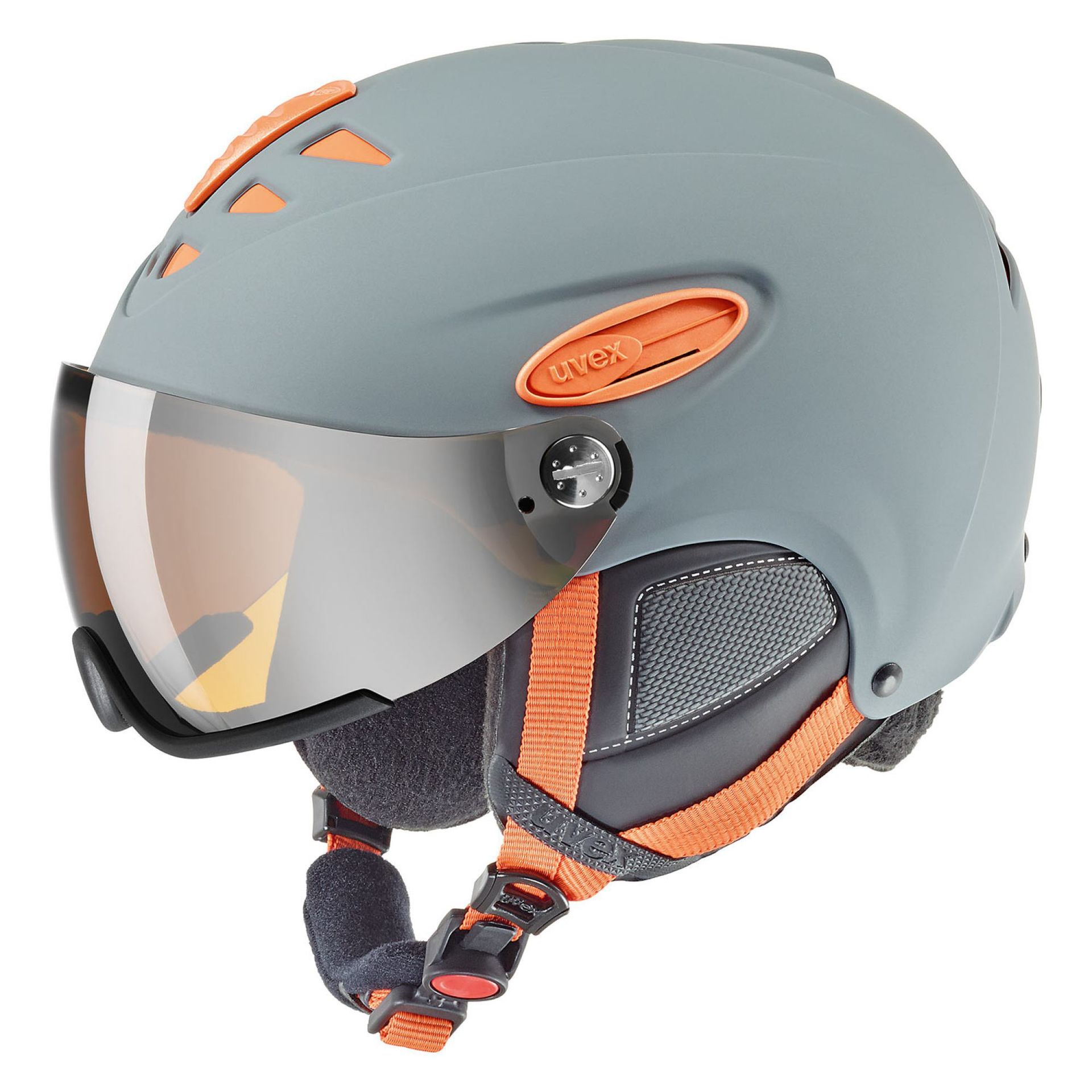 KASK UVEX HLMT 300 GREY ORANGE MAT