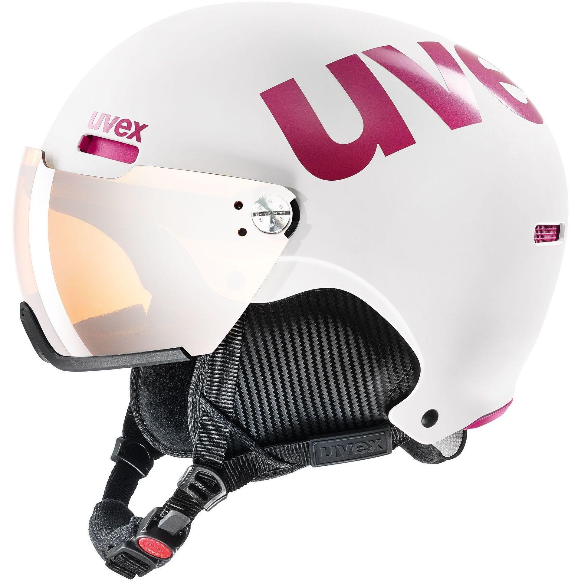 KASK UVEX HLMT 500 VISOR WHITE PINK MAT