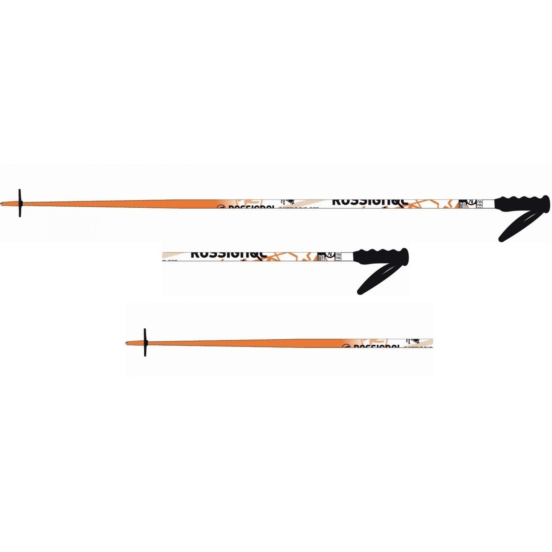 Kije narciarskie Rossigniol Radical SL Solar czarny biały  pomarańczowy