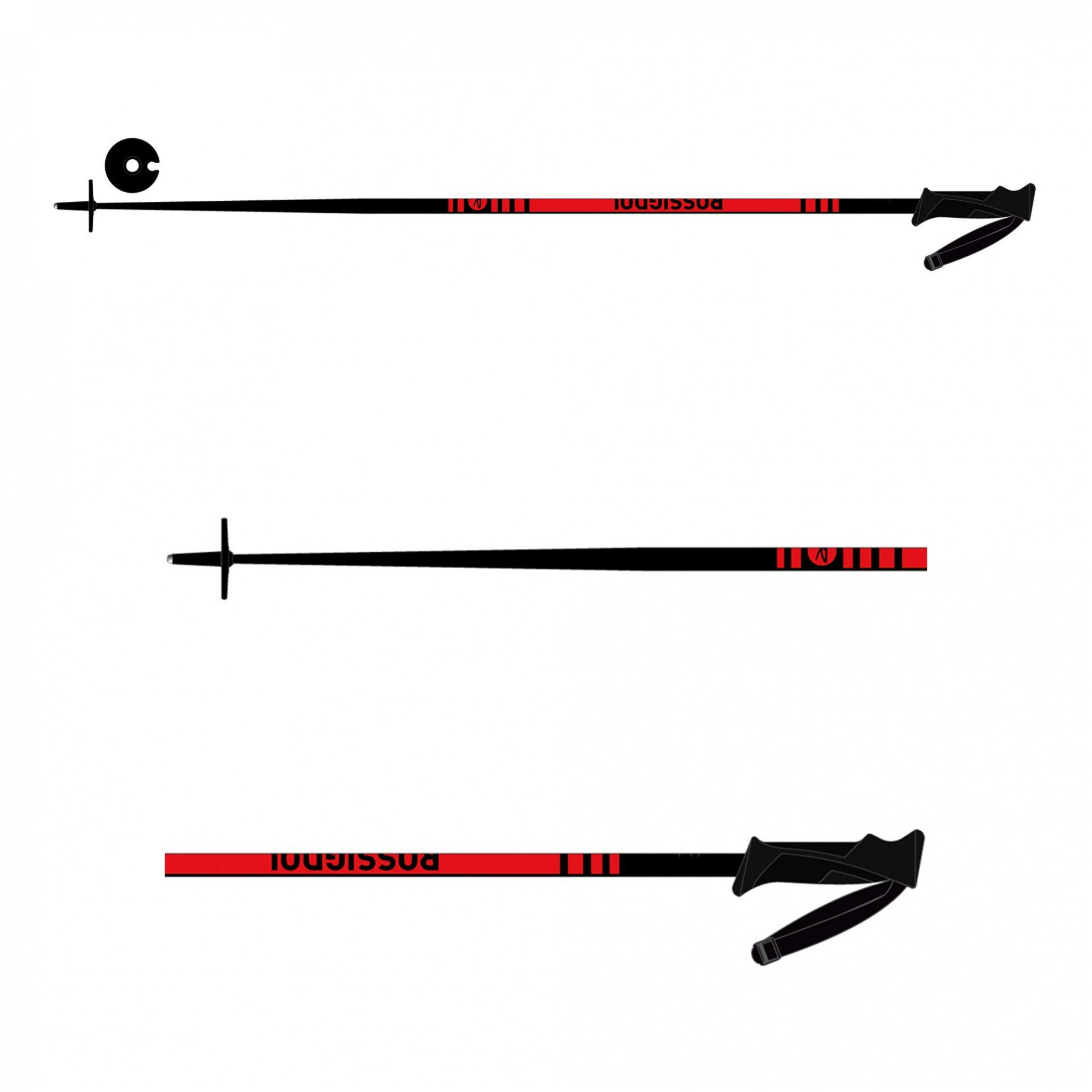 KIJE NARCIARSKIE ROSSIGNOL STOVE BOX 30 PAIRS RDI2080 BLACK RED