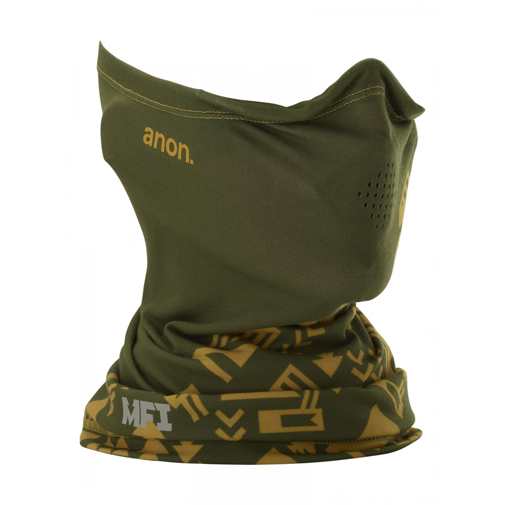 KOMIN ANON MFI LIGHTWEIGHT NECK WARMER 172461 NATIVE GREEN