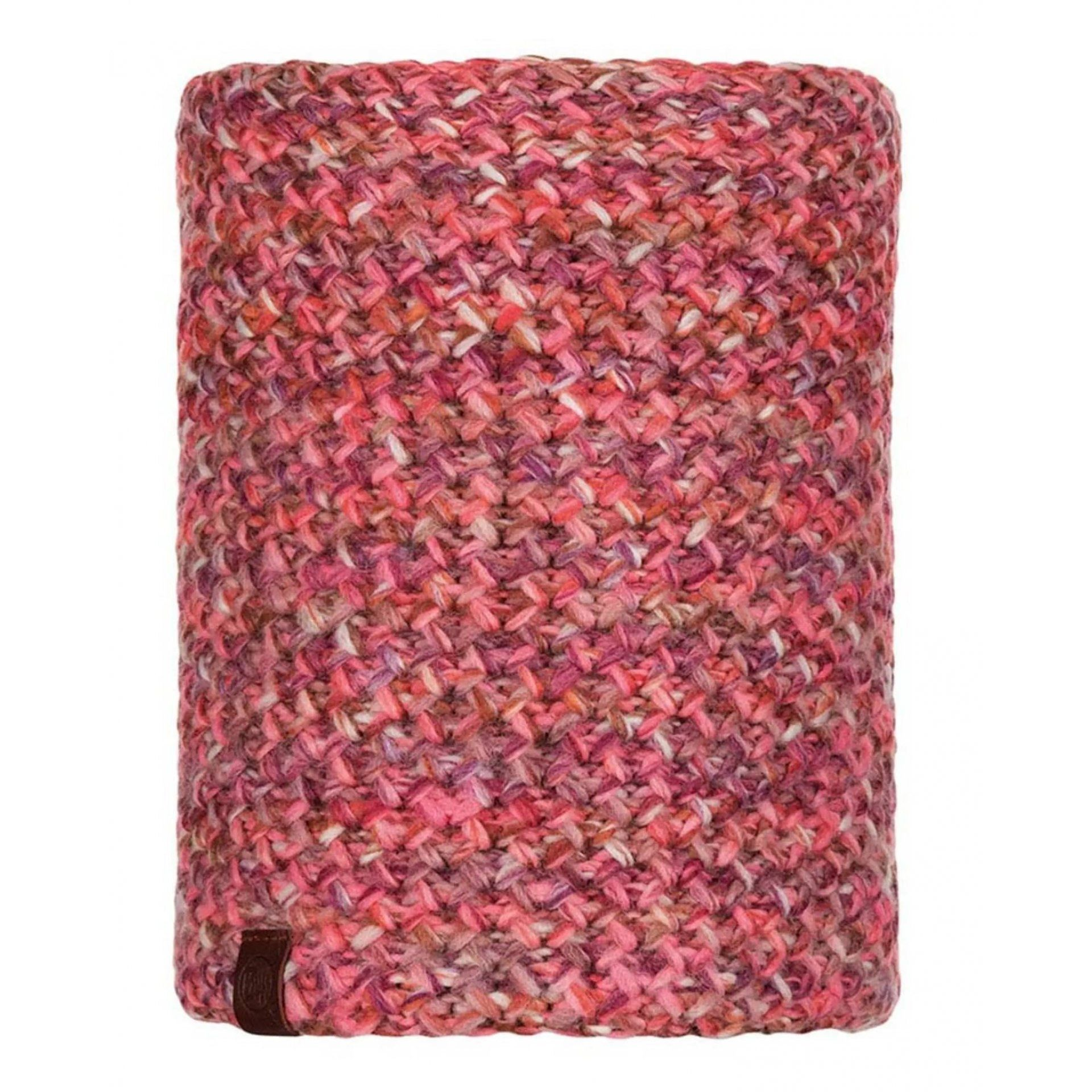 KOMIN BUFF KNITTED & FLEECE NECKWARMER MARGO FLAMINGO PINK