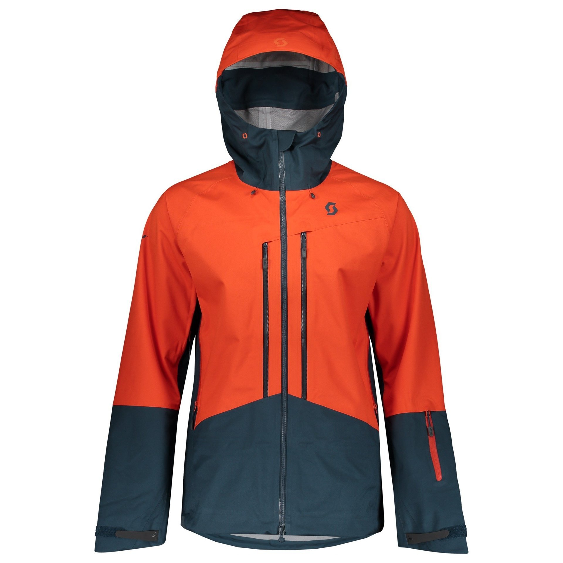 KURTKA SCOTT EXPLORAIR TANGERINGE ORANGE|NIGHTFALL BLUE 1