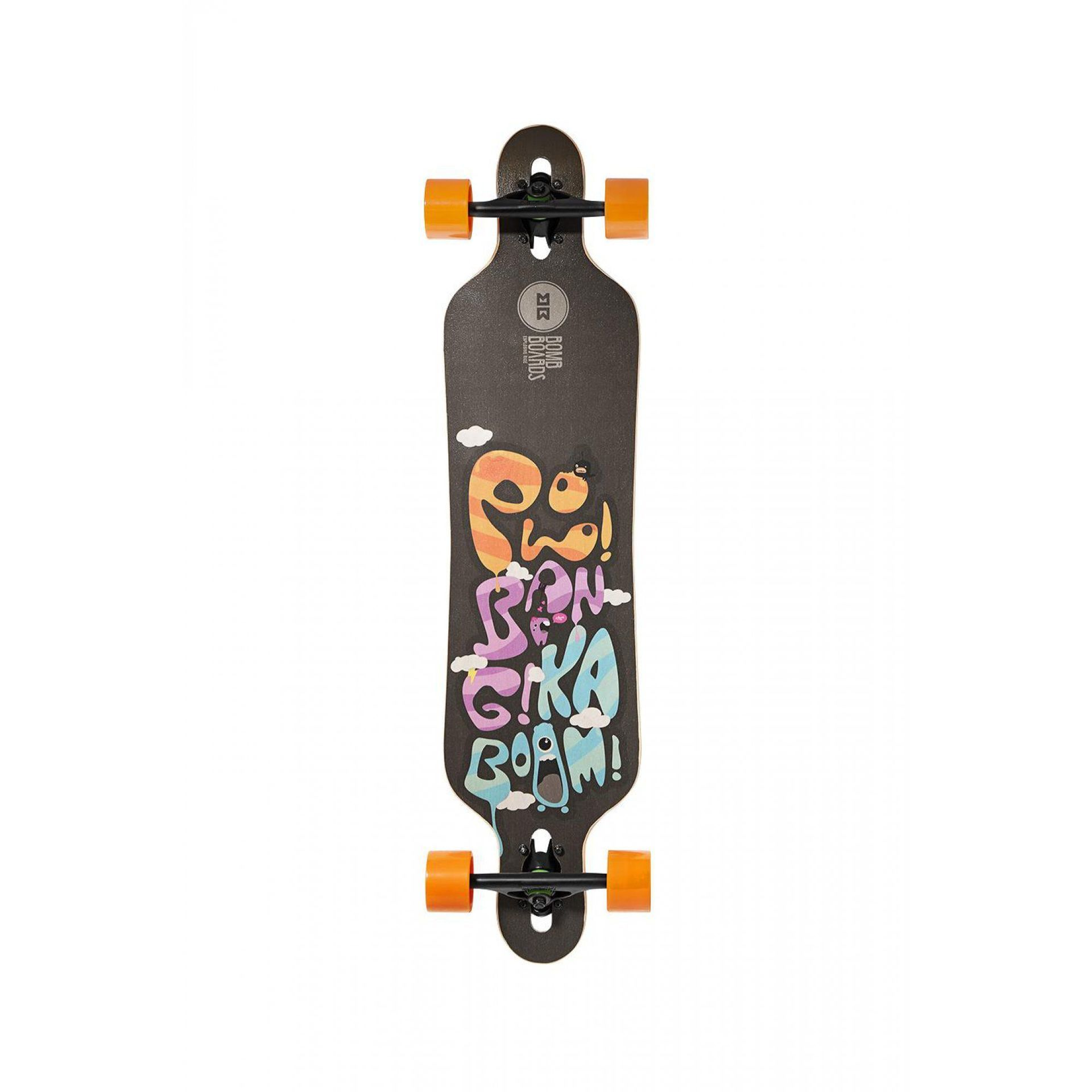 LONGBOARD BOMBBOARDS INFINITY BLACK|ORANGE 1