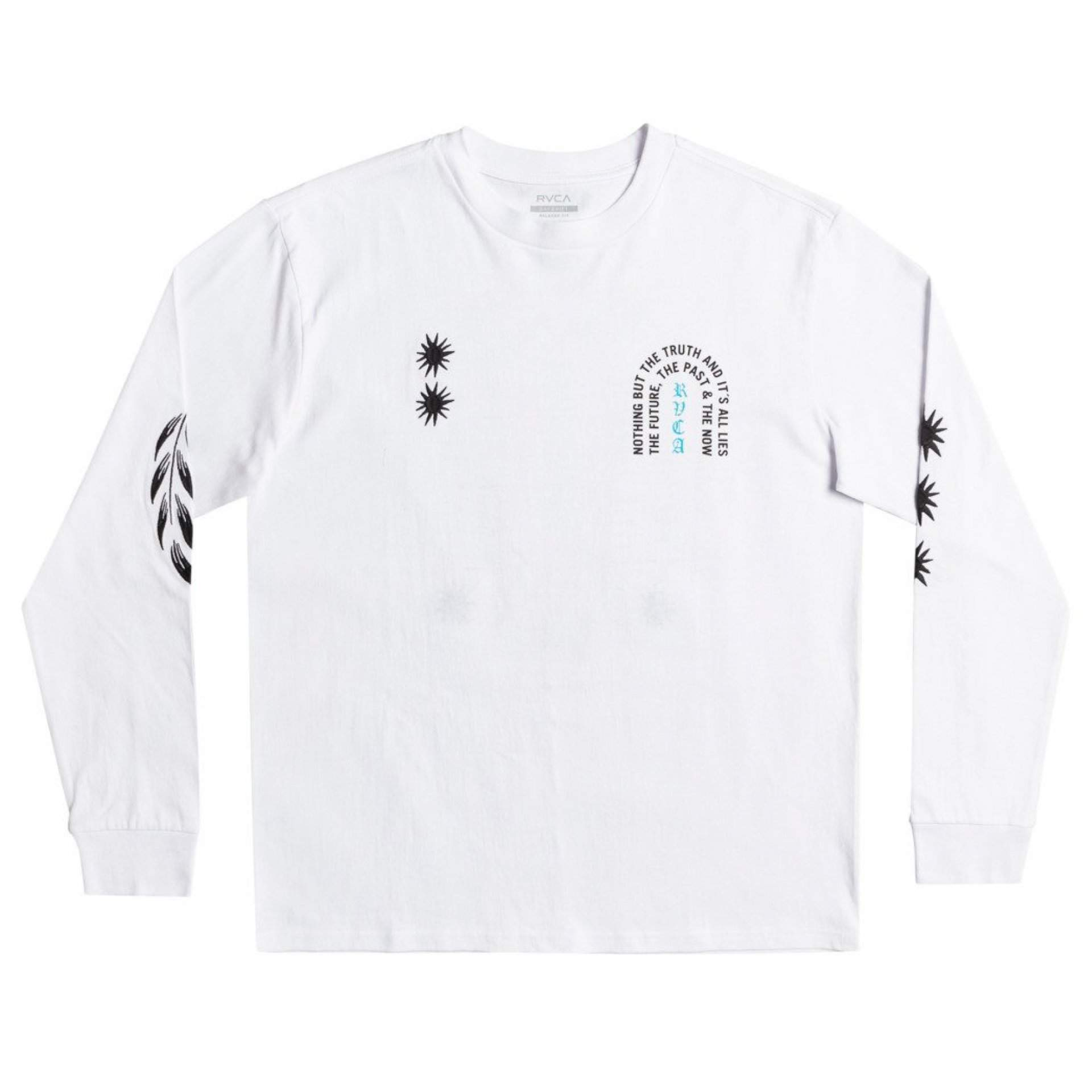 LONGSLEEVE RVCA TRUTH AND LIES WHITE