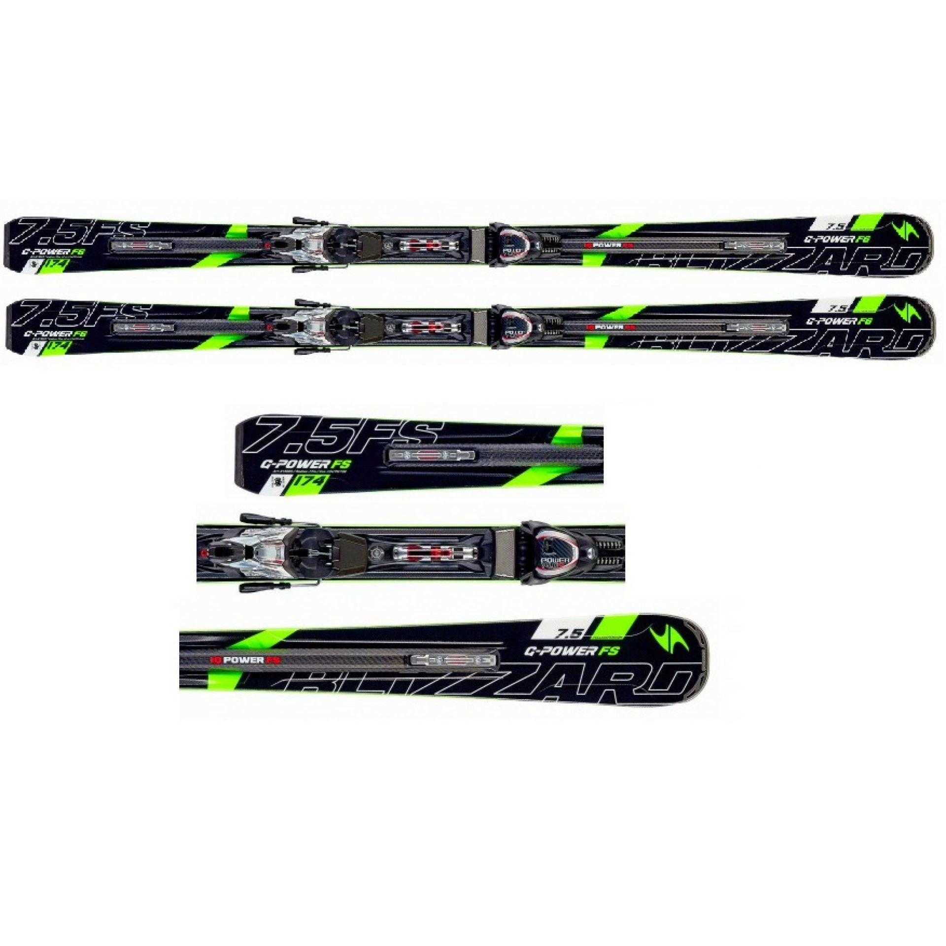 NARTY BLIZZARD G-POWER FS IQ +WIĄZANIA POWER 14 TCX