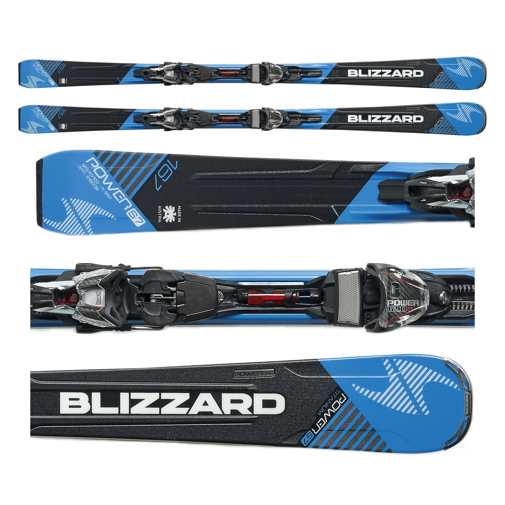 NARTY BLIZZARD POWER S7 + WIĄZANIA POWER12 TCX