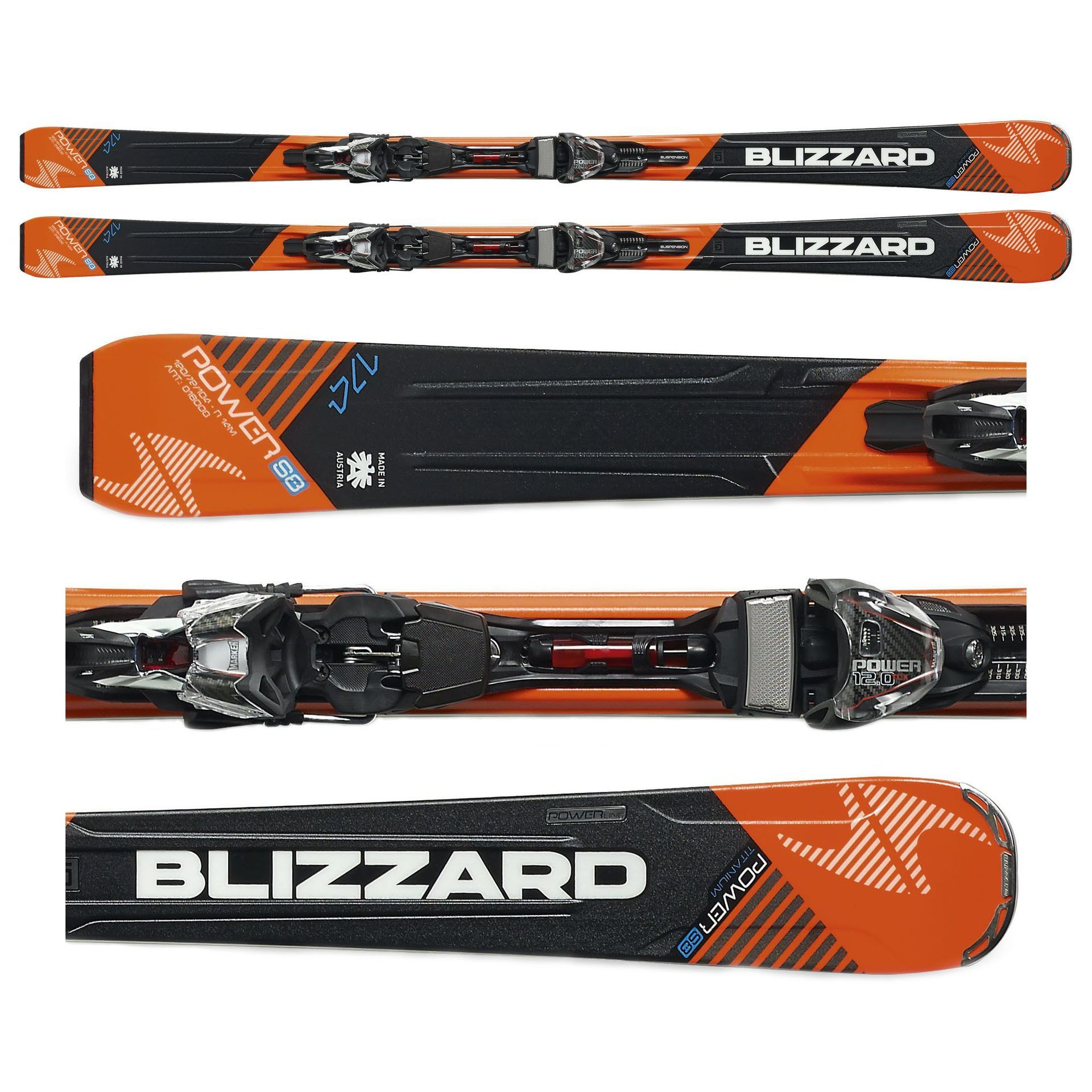 NARTY BLIZZARD POWER S8 + WIĄZANIA POWER12 TCX