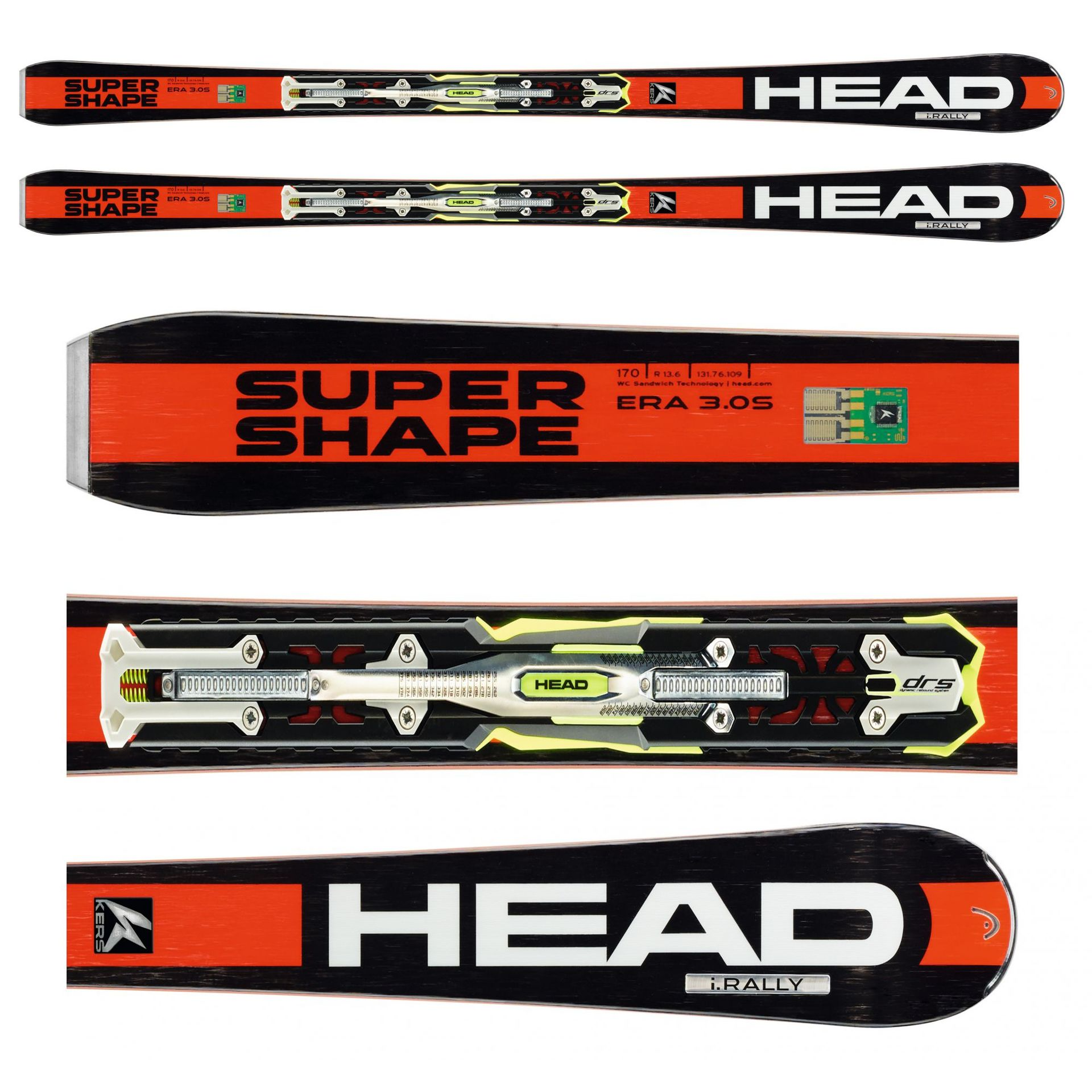 NARTY HEAD i.SUPERSHAPE RALLY + WIĄZANIA PRX 12 S BR 85