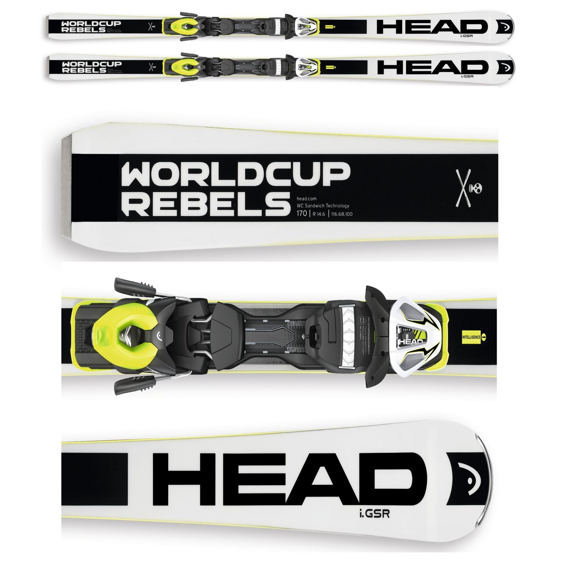 NARTY HEAD WORLDCUP REBELS iGSR PR BK + WIĄZANIA PRX 12 S BRAKE 85