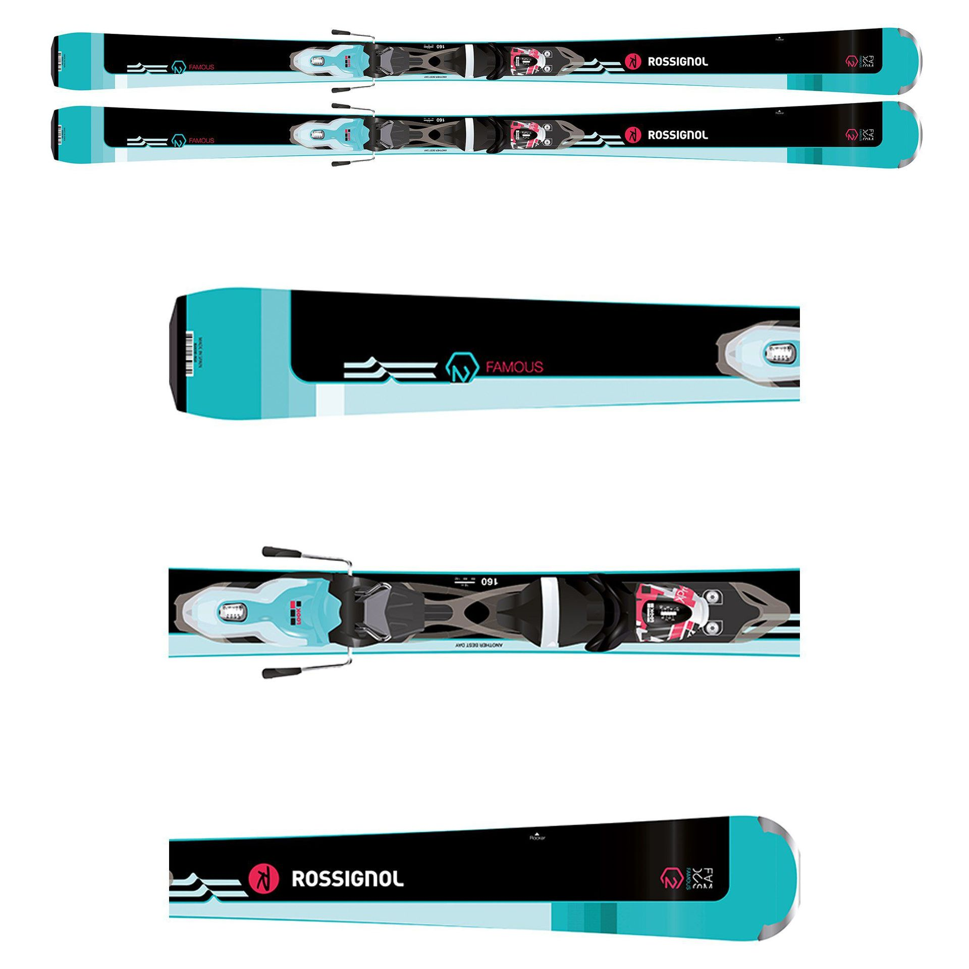 NARTY ROSSIGNOL FAMOUS 2 RRH06BK
