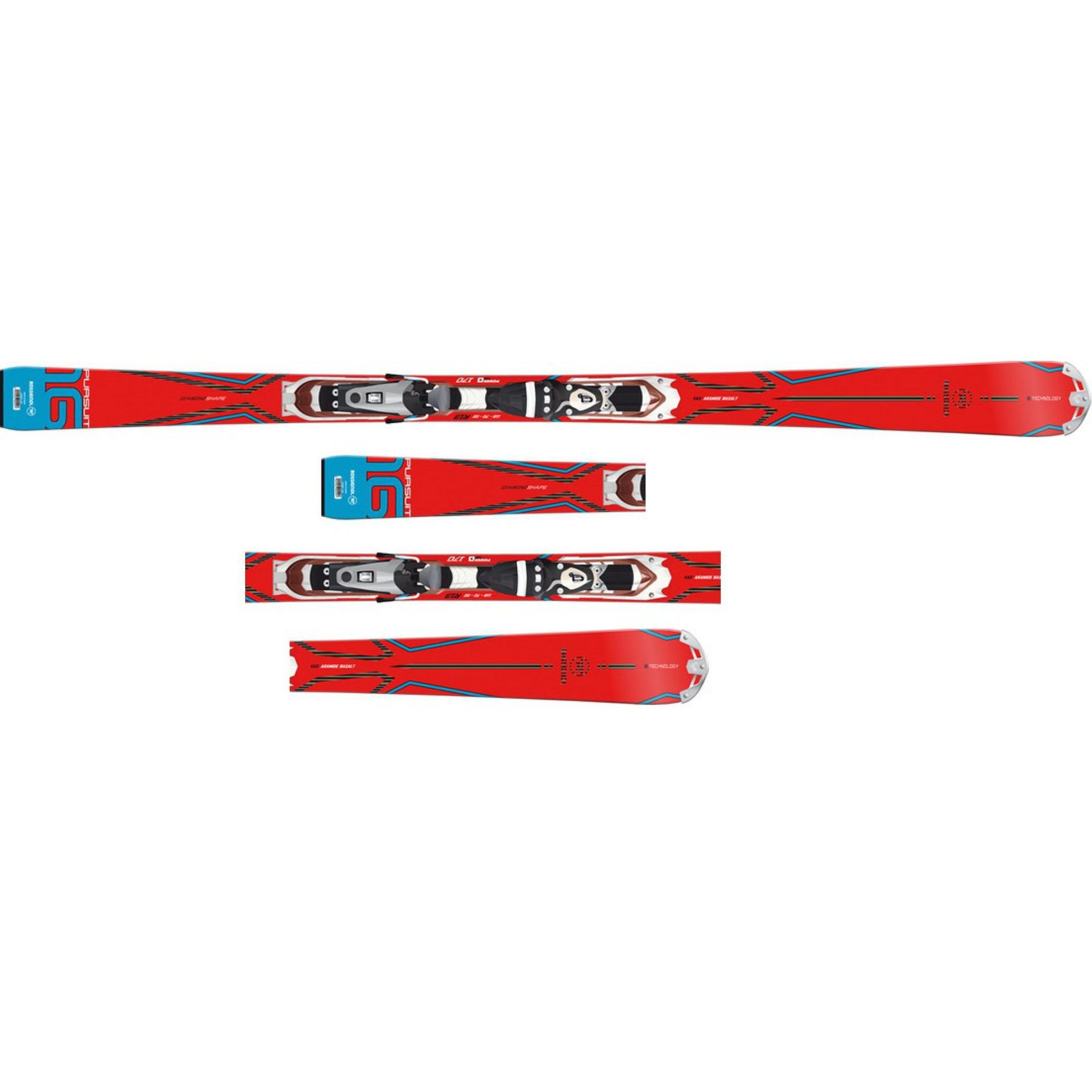 NARTY ROSSIGNOL PURSUIT 16 ARAMID BASALT TPX