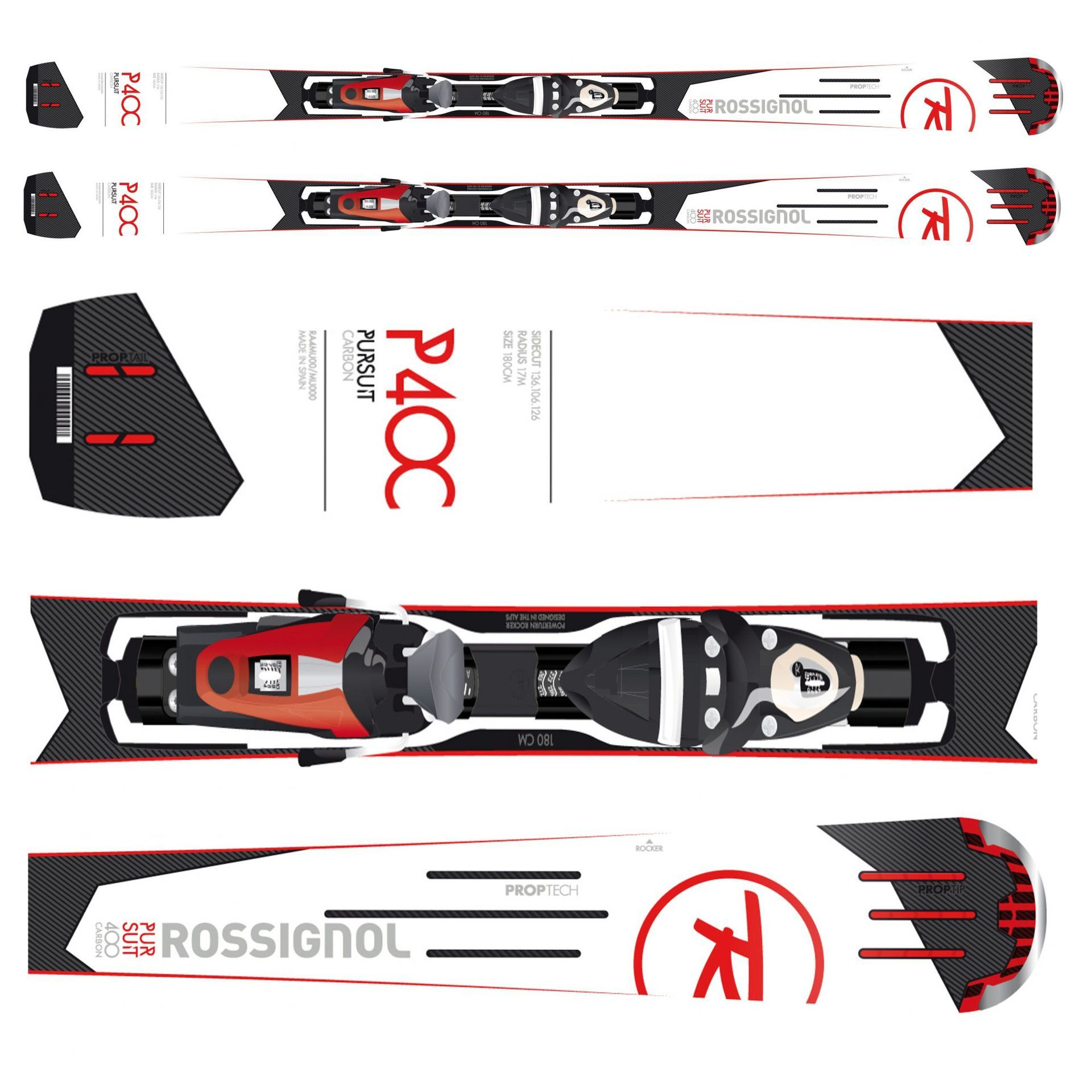 NARTY ROSSIGNOL PURSUIT 400 CARBON + AXIUM 110 TPI2 B83